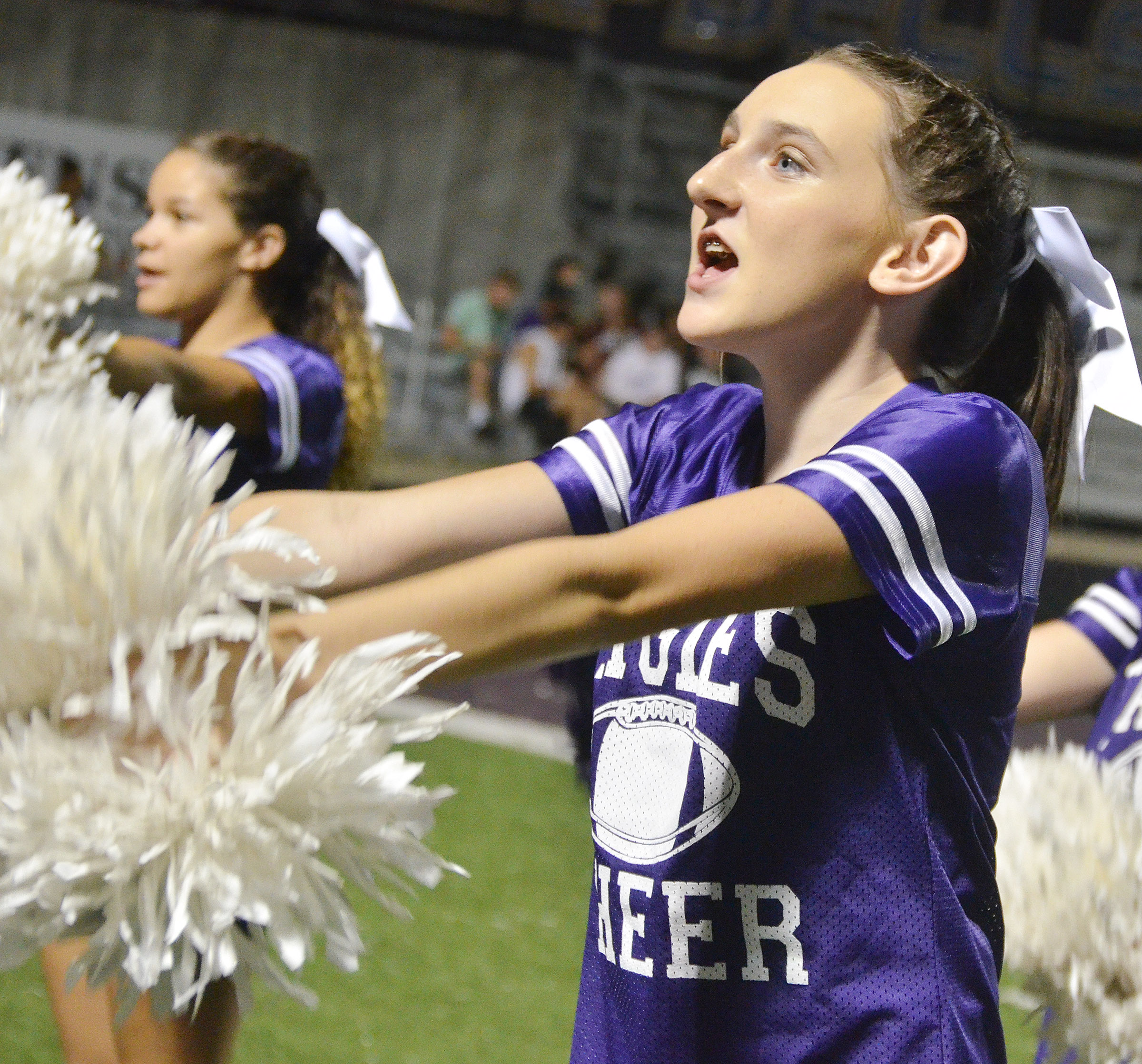CHS sophomore Zoe McAninch cheers.