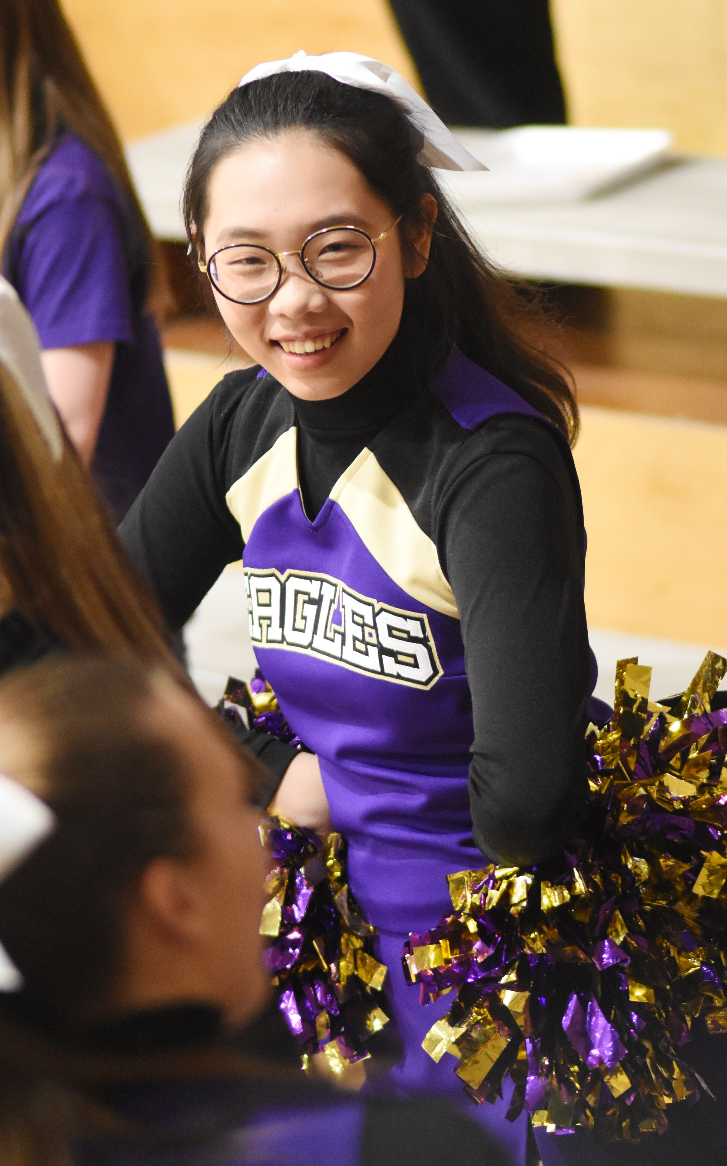 CHS junior Annie Lee cheers for the Eagles.