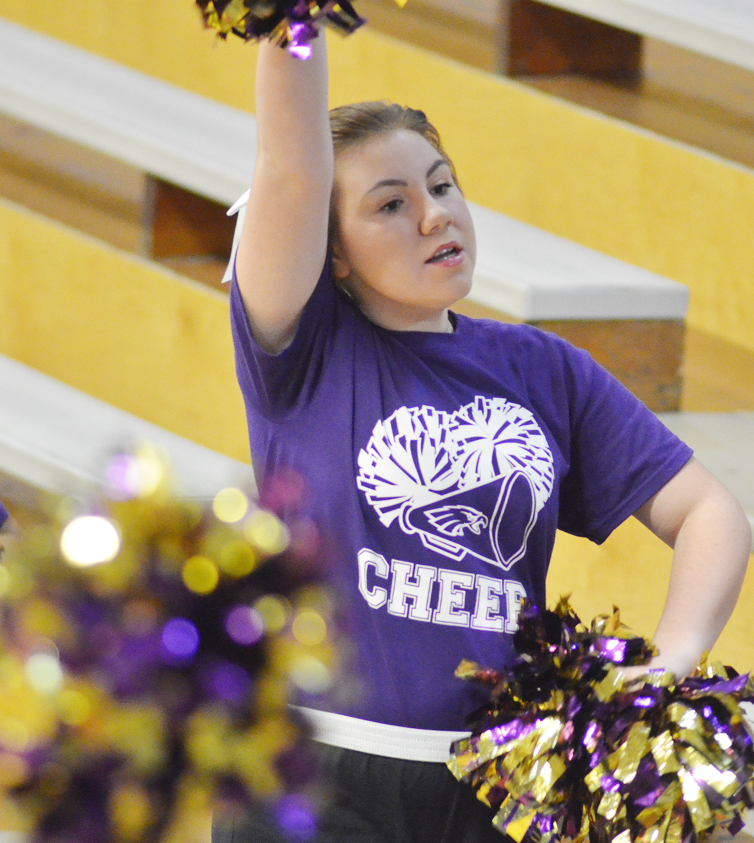 CHS sophomore Lauryn Agathen cheers for the Eagles.