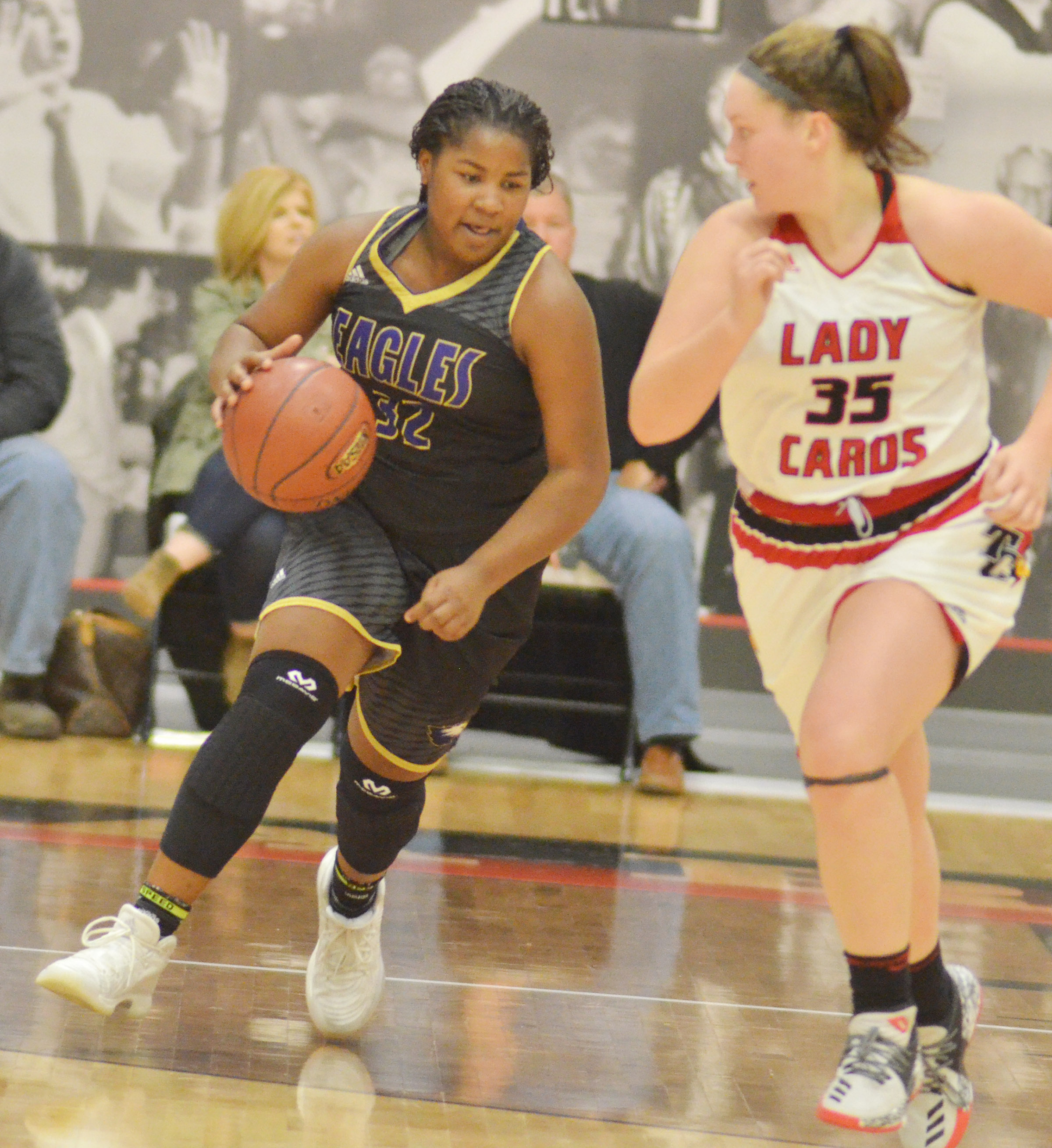 CHS senior Kiyah Barnett dribbles to the basket.