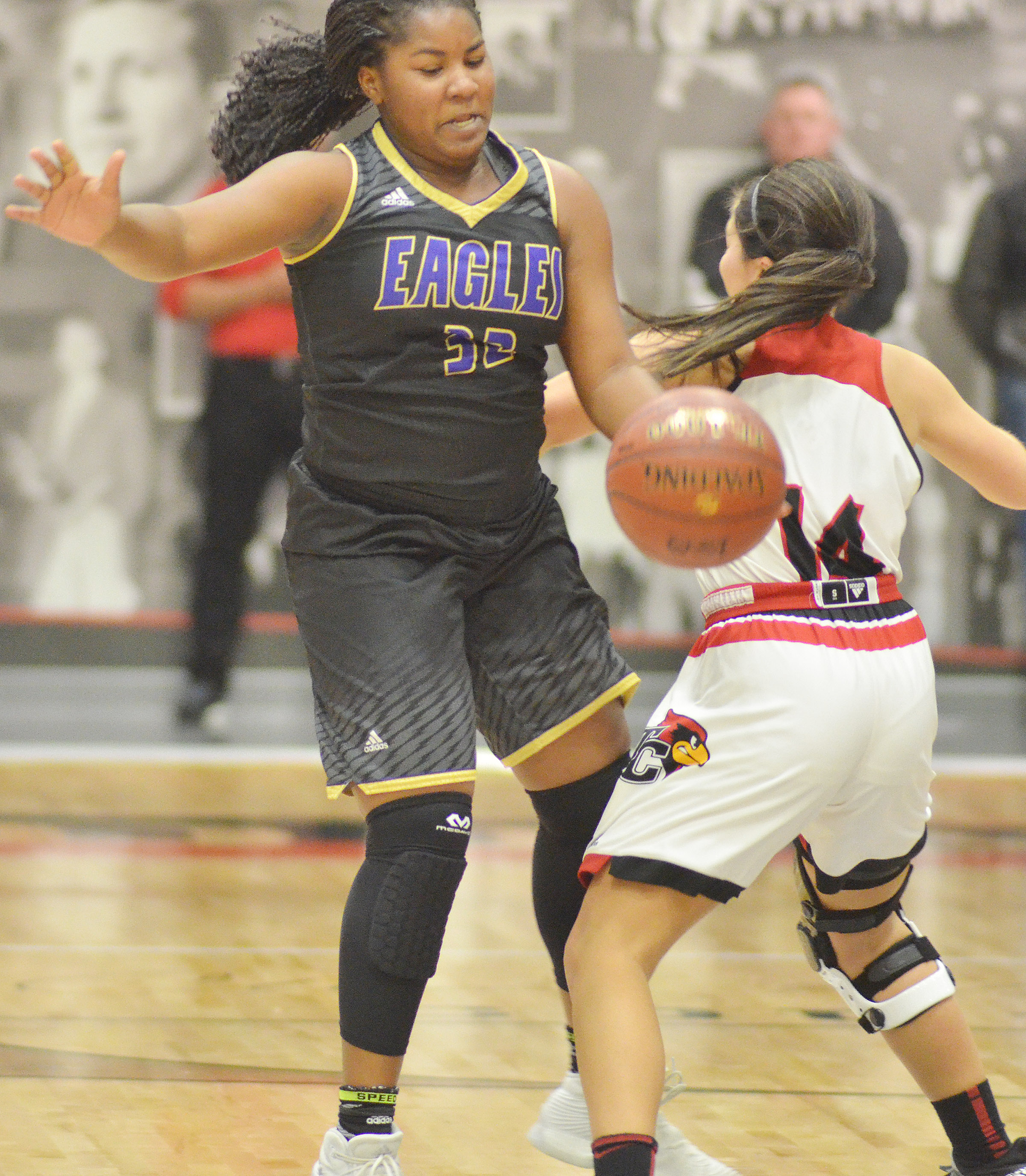 CHS senior Kiyah Barnett steals the ball.