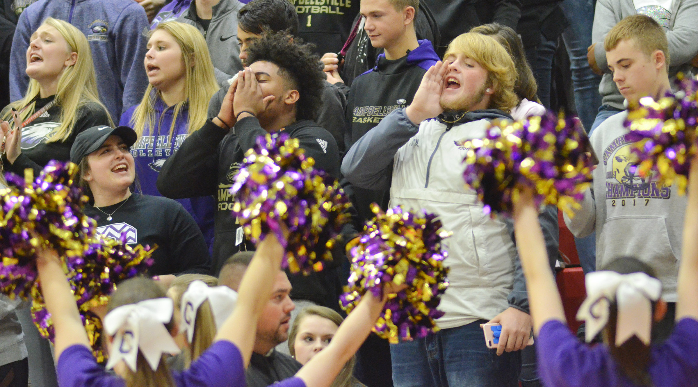 CHS students cheer as the Lady Eagles defeat Taylor County.