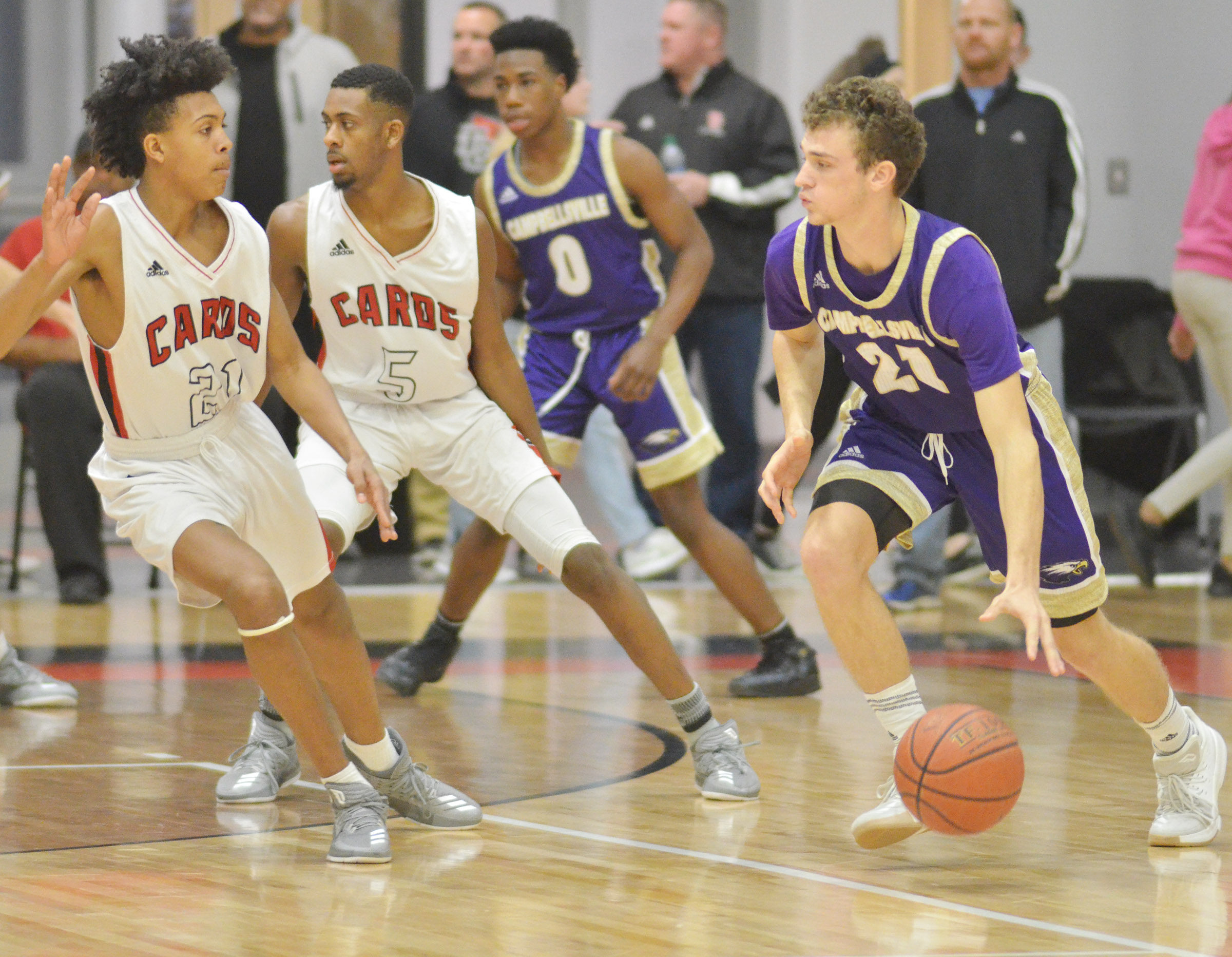 CHS senior Connor Wilson dribbles.