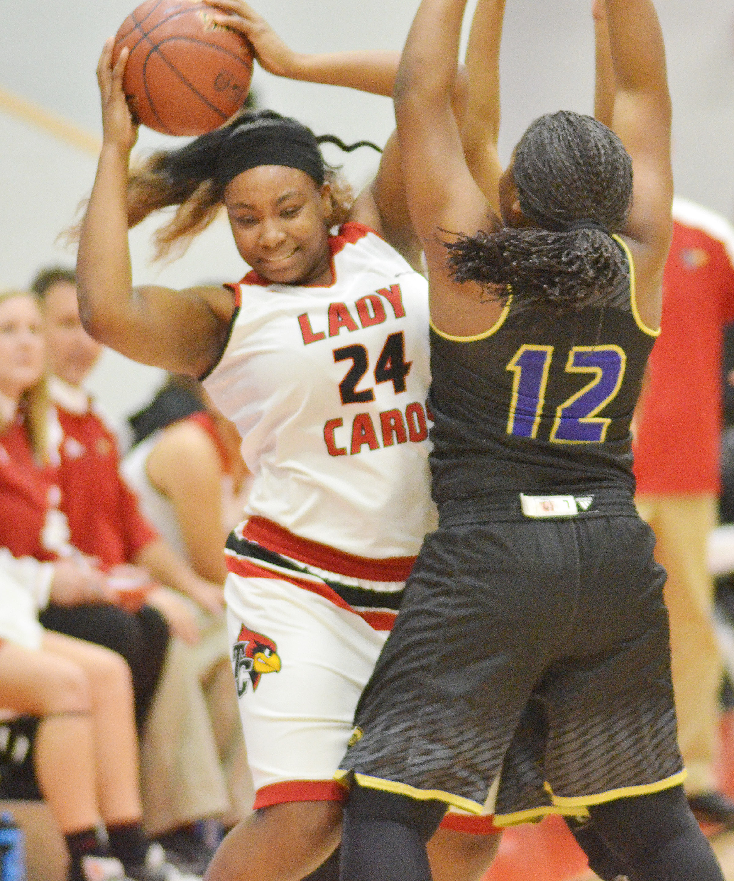 CHS senior Nena Barnett tries to steal.