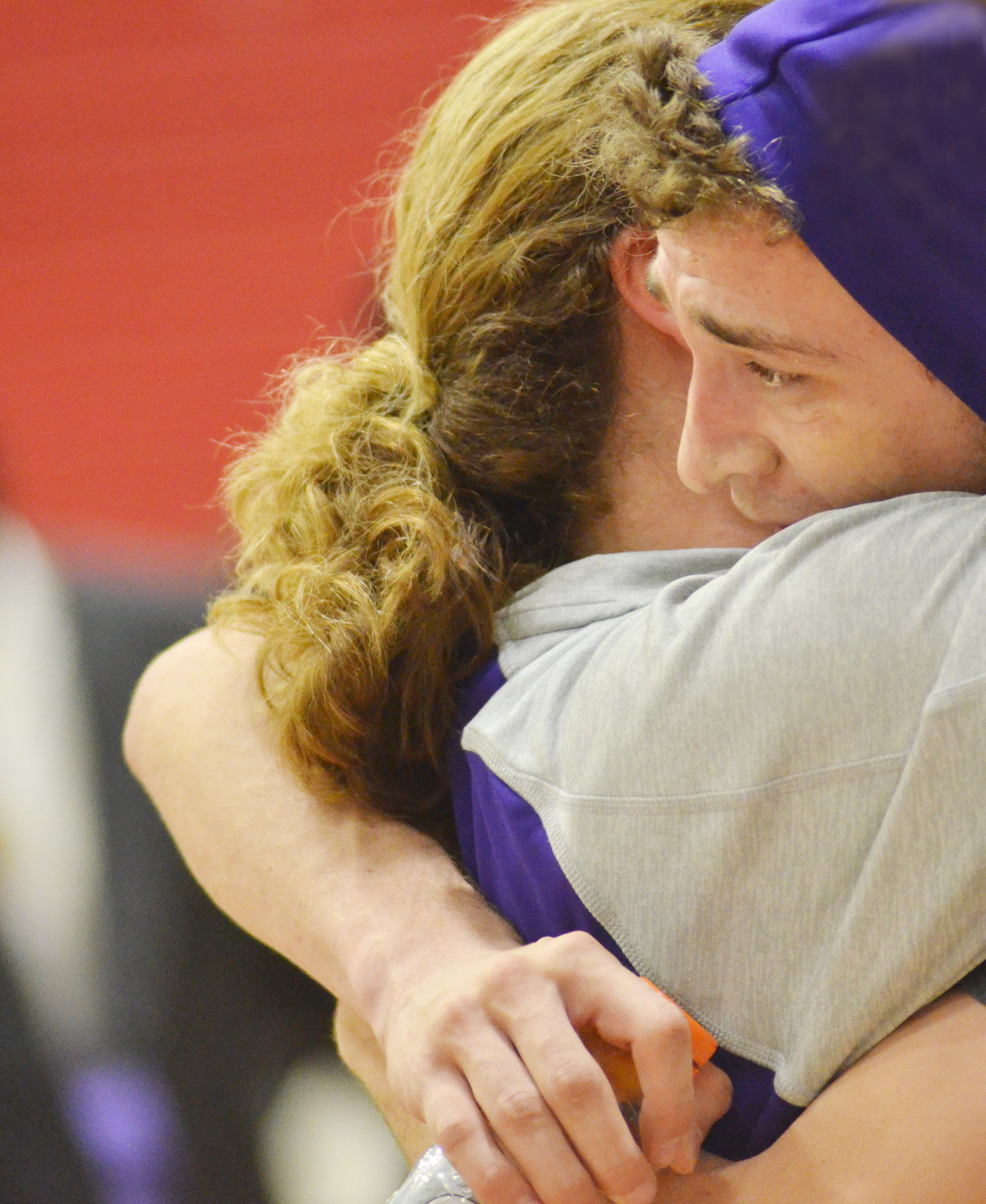 CHS senior Connor Wilson hugs his mother, Tammy, after defeating Taylor County.