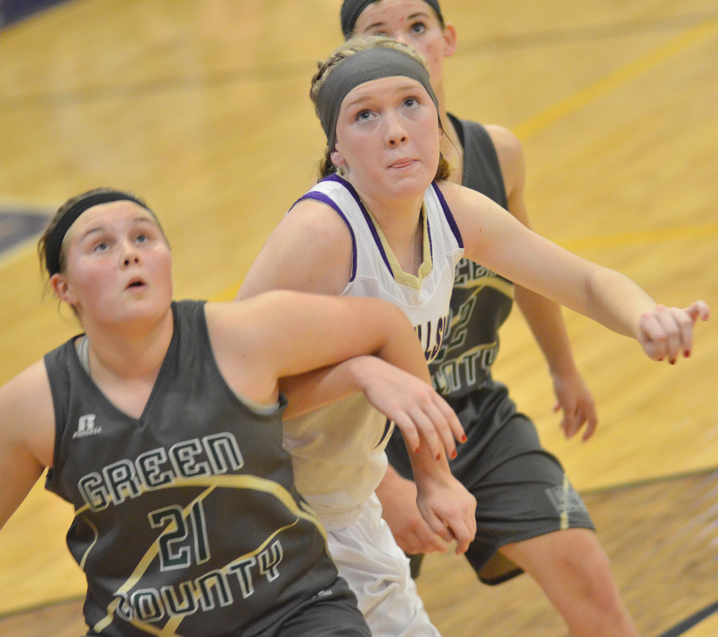 CHS freshman Catlyn Clausen fights for the ball.