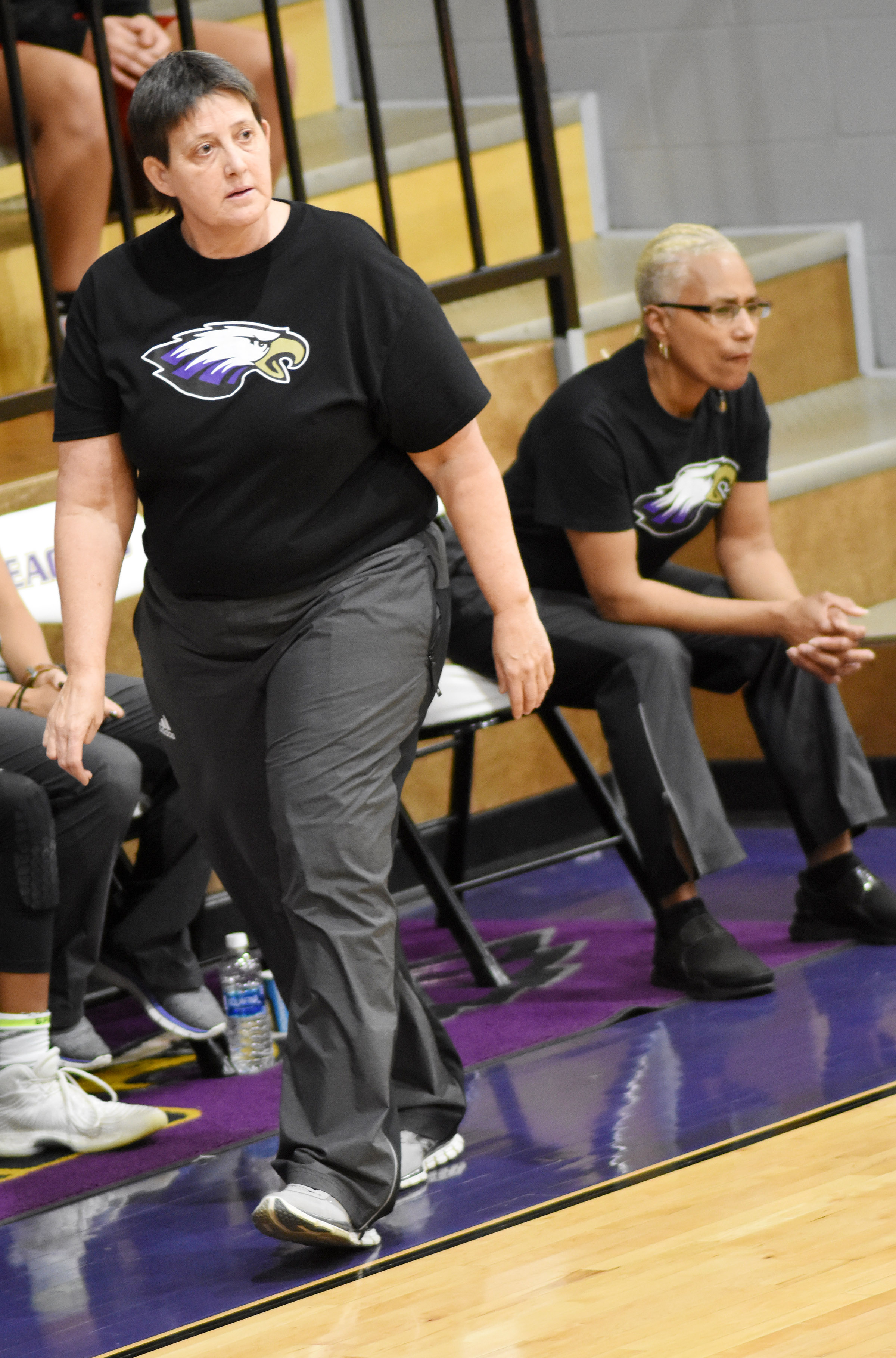 CHS girls' basketball assistant coach Katie Wilkerson watches her players.