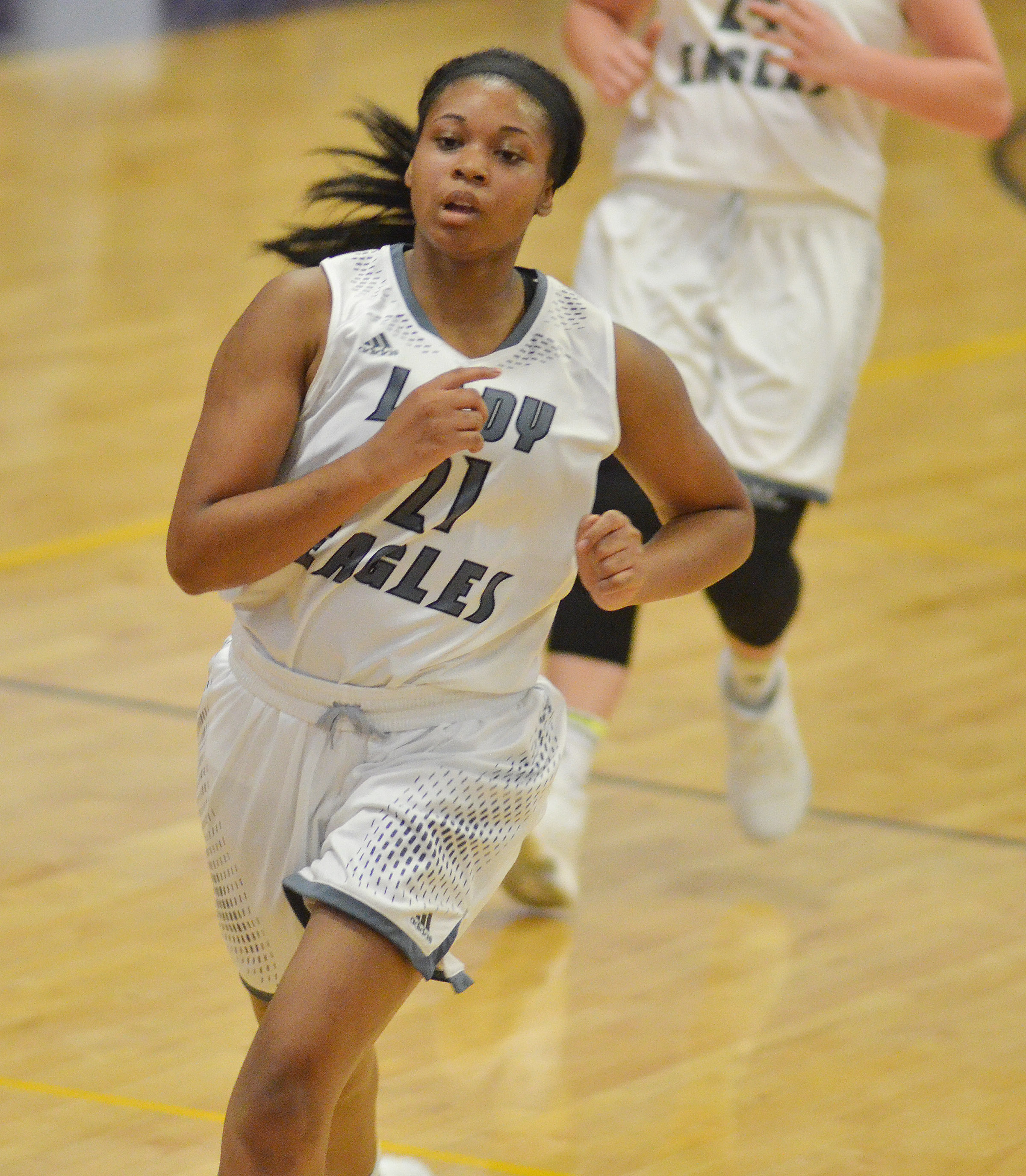 CHS senior Vonnea Smith runs down the court.