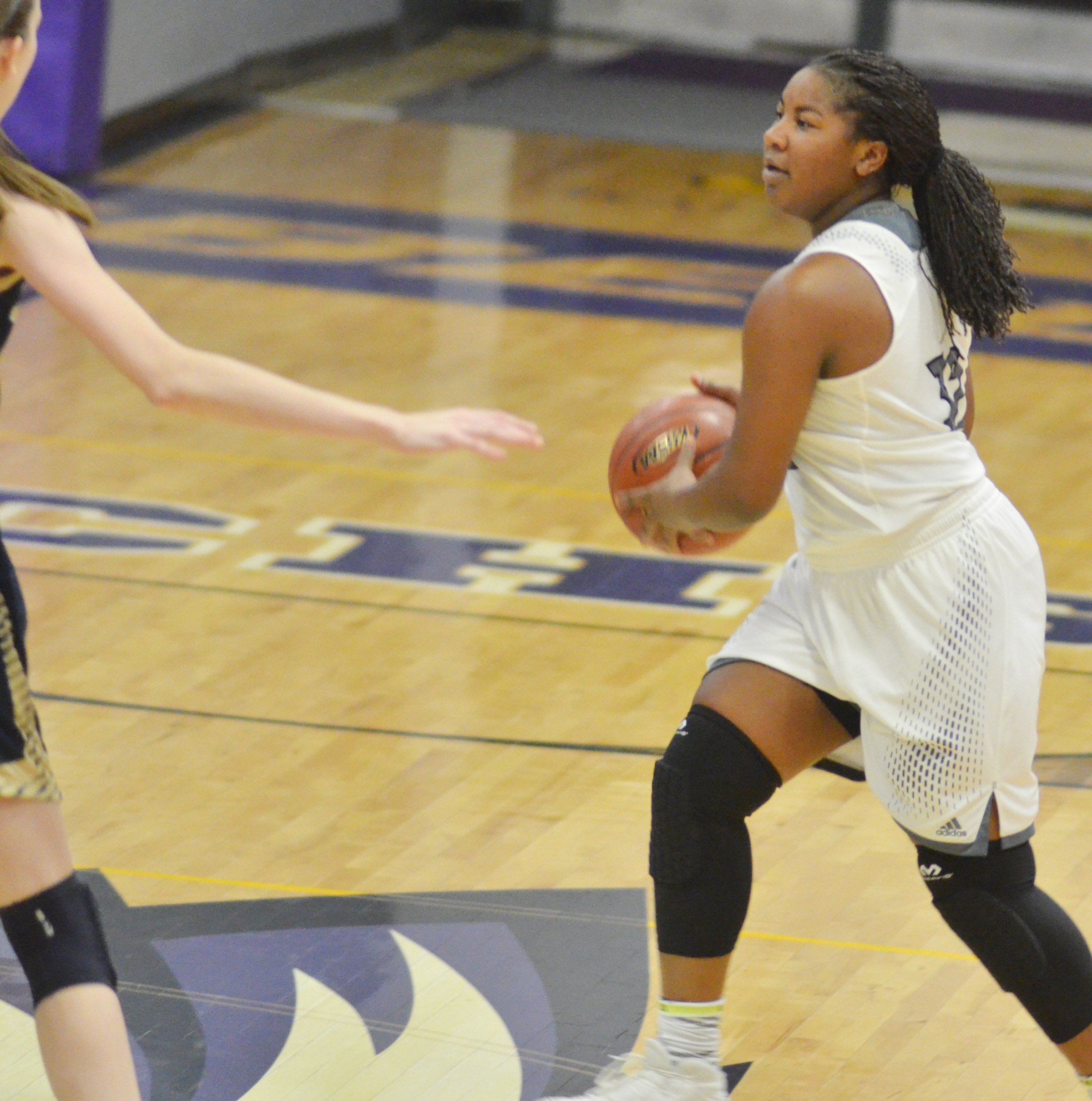 CHS senior Nena Barnett passes the ball.