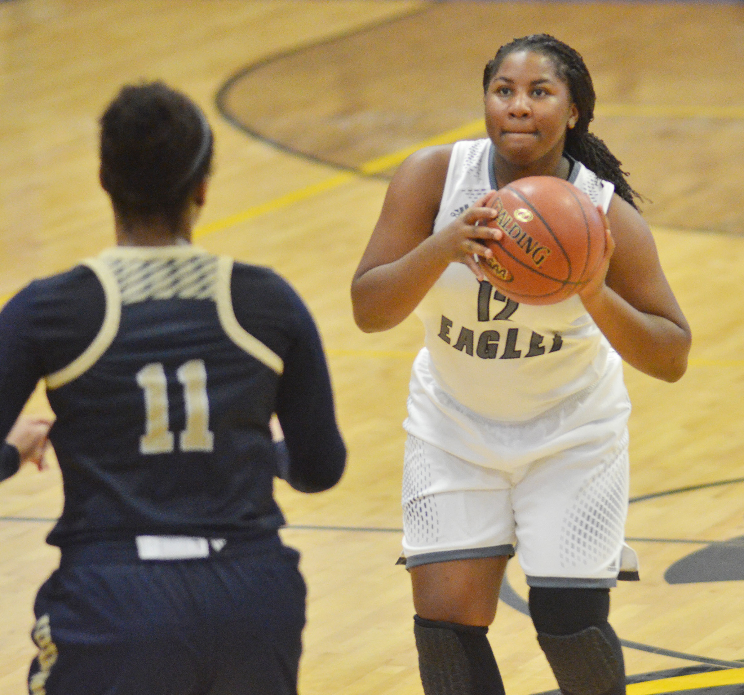 CHS senior Kiyah Barnett shoots the ball.