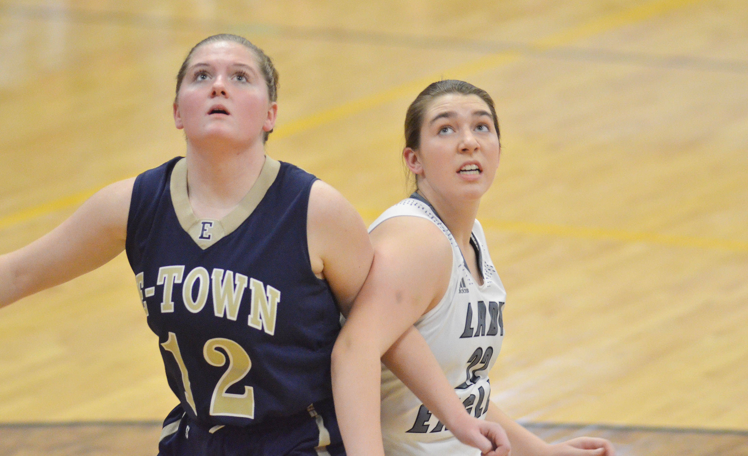 CHS freshman Abi Wiedewitsch fights for a rebound.