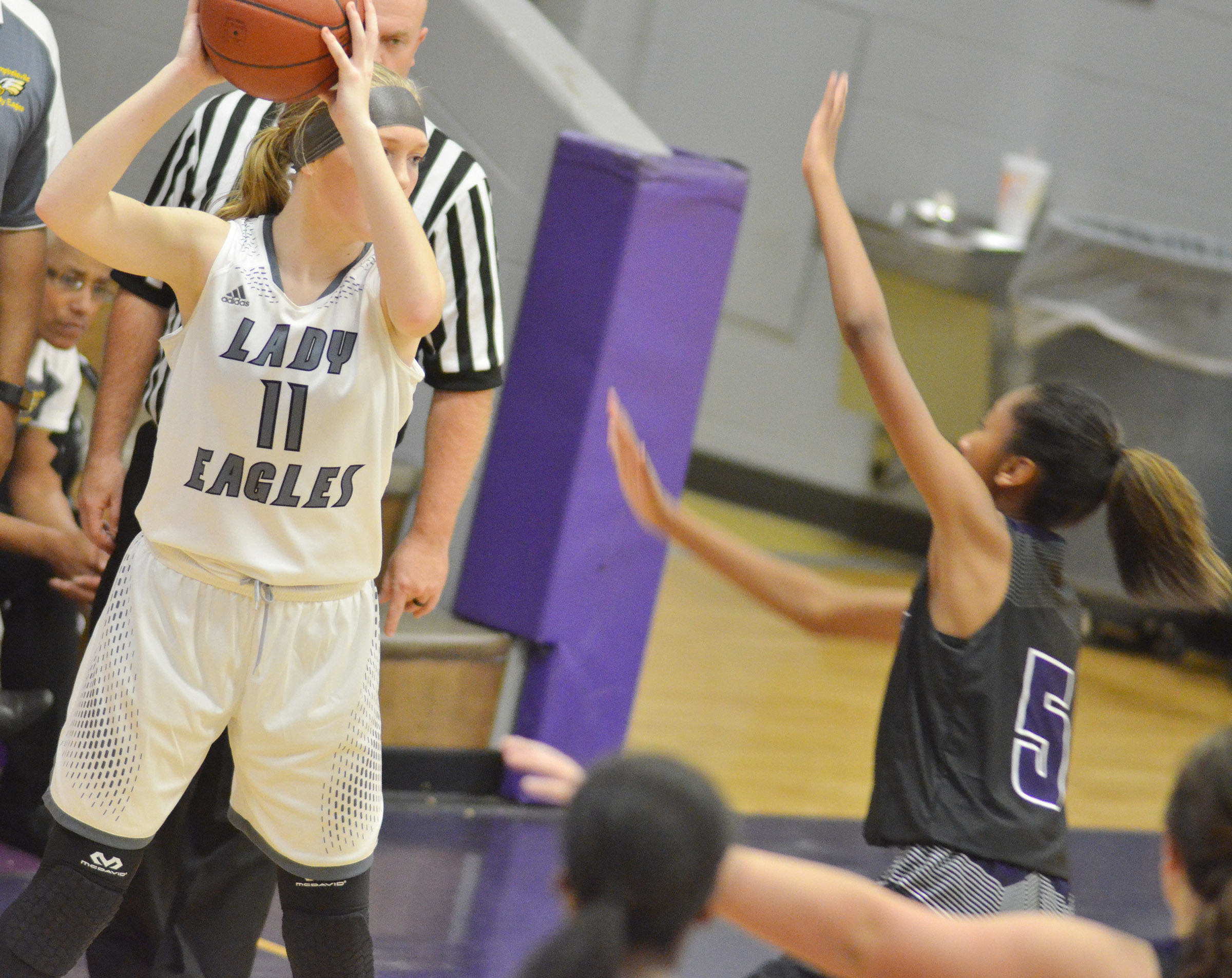 CHS freshman Catlyn Clausen looks to pass.