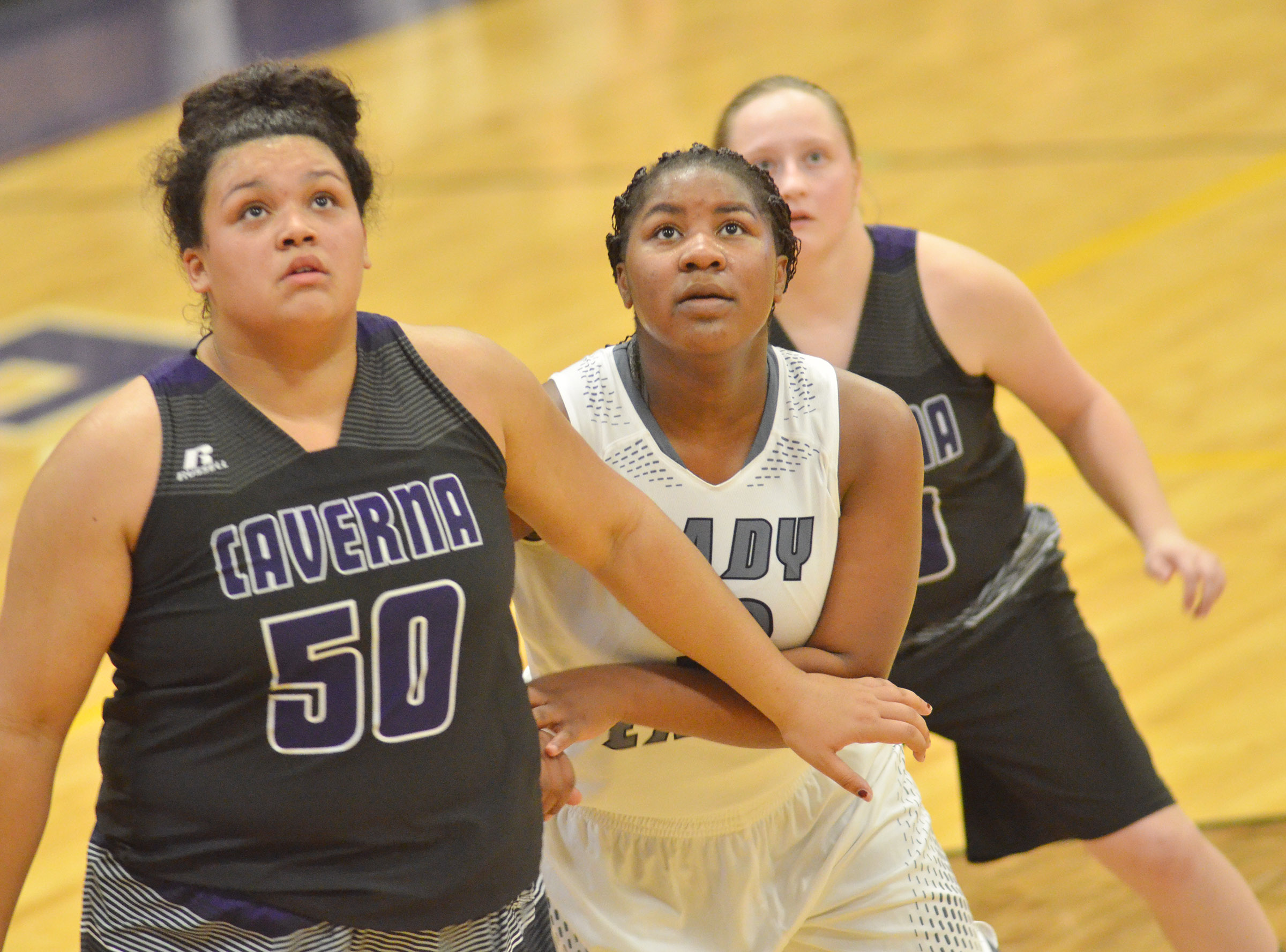 CHS senior Kiyah Barnett looks for a rebound.