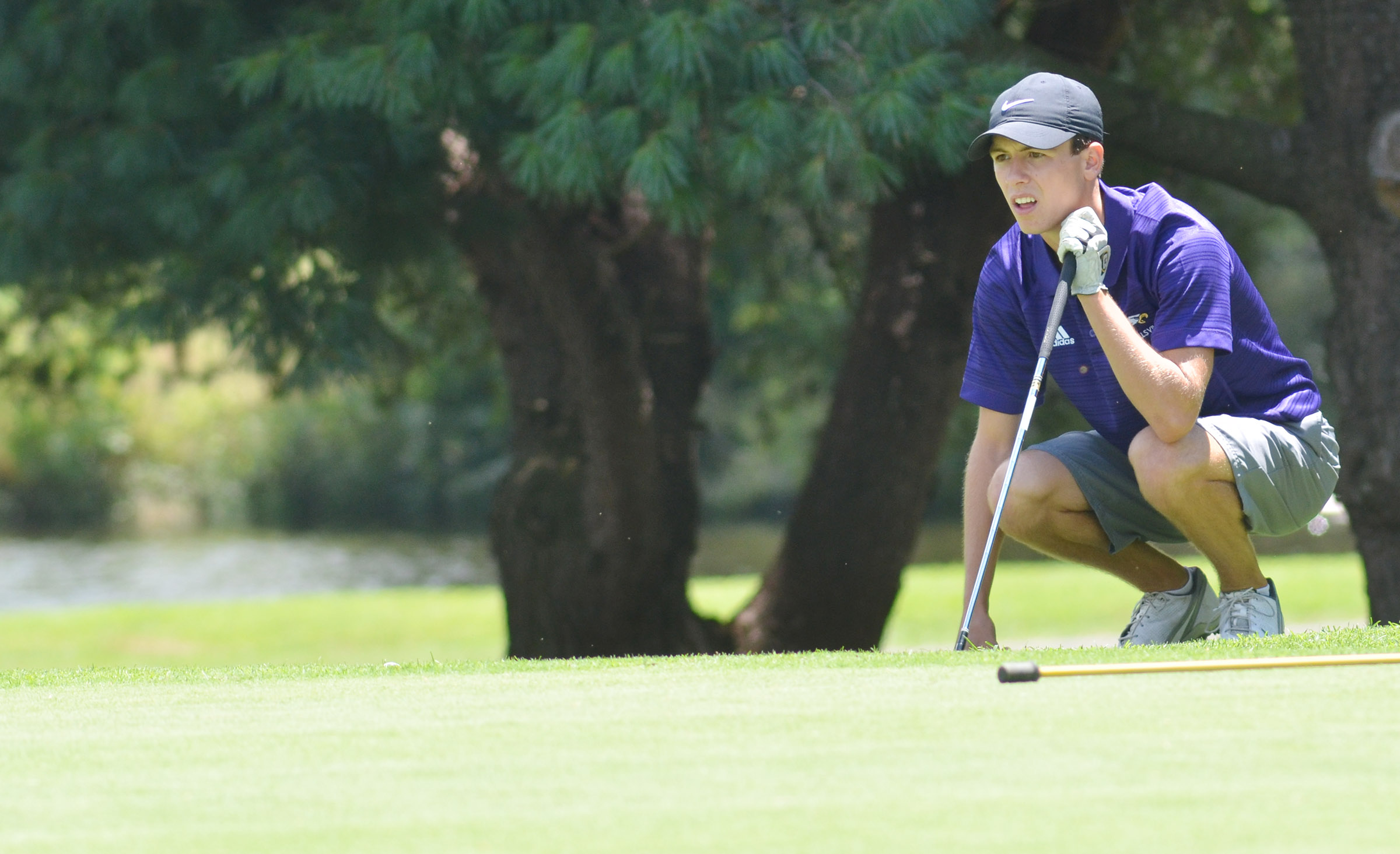 CHS junior Layton Hord looks at his shot.