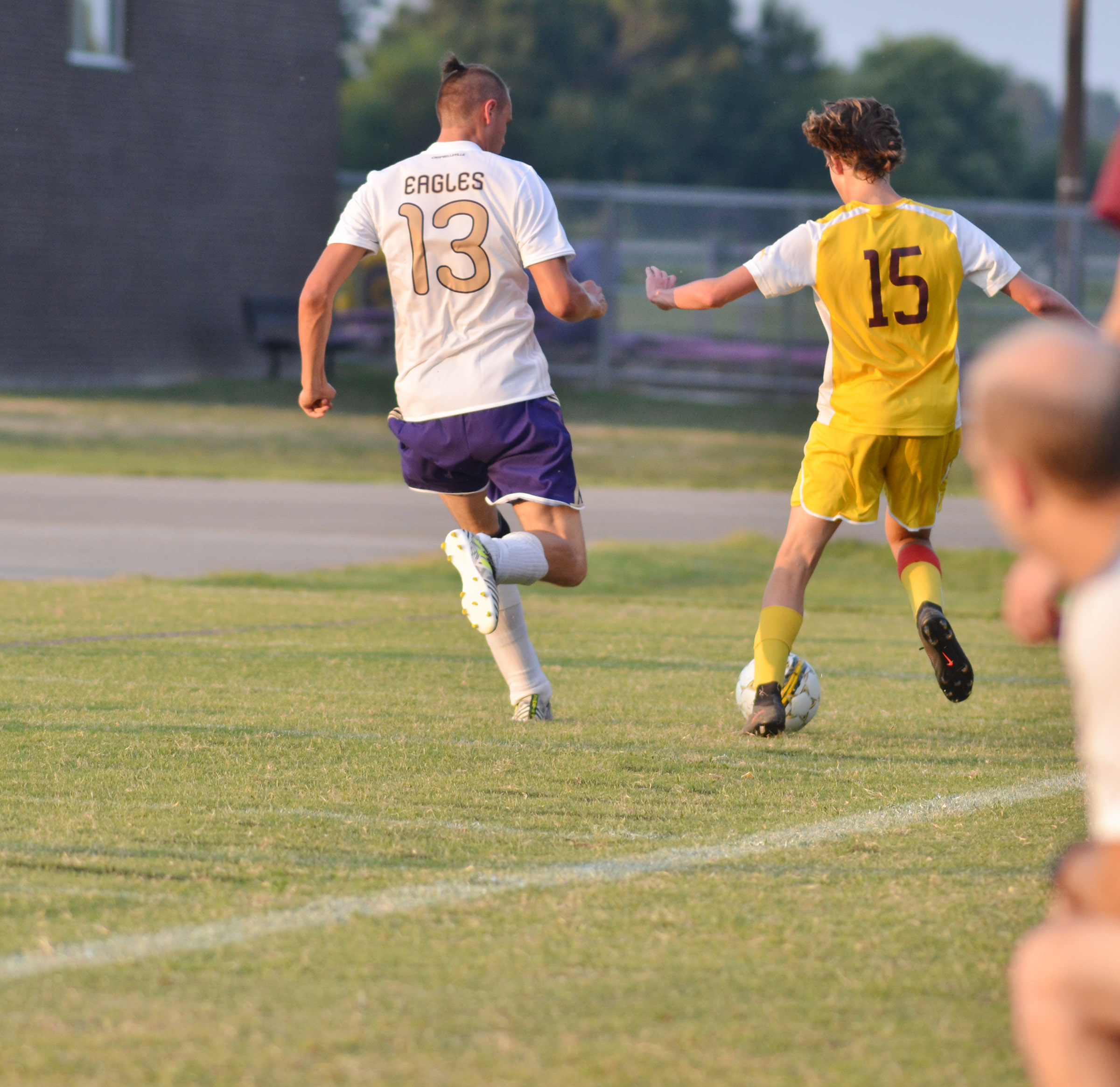 CHS senior Logan Cole runs for the ball.