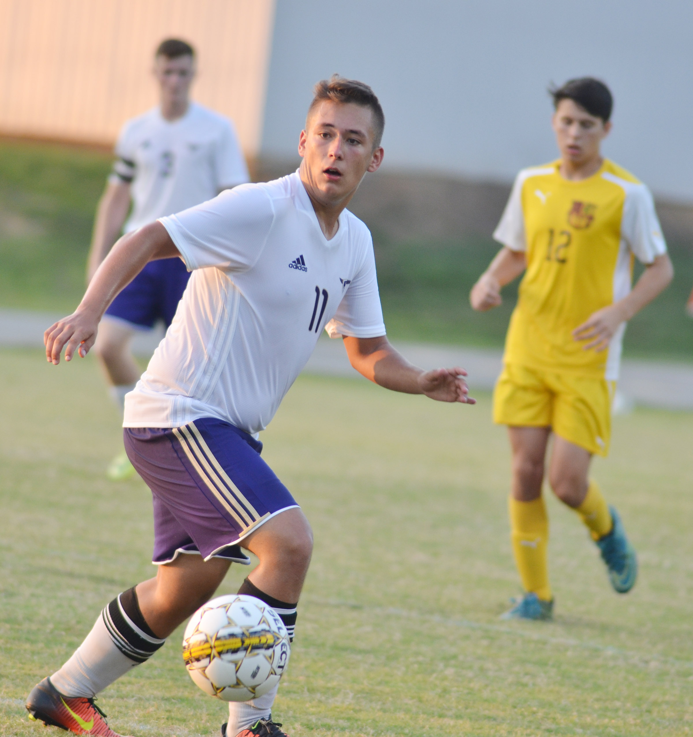 CHS senior Cody Davis runs to the ball.