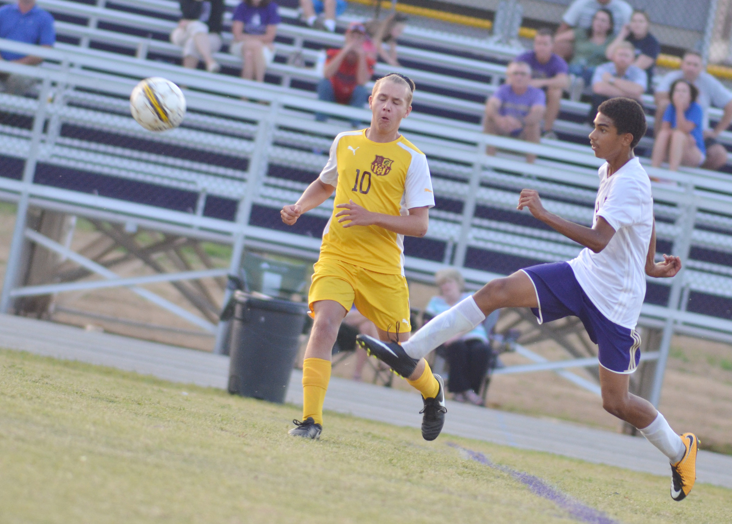 CHS sophomore David Silva kicks the ball.