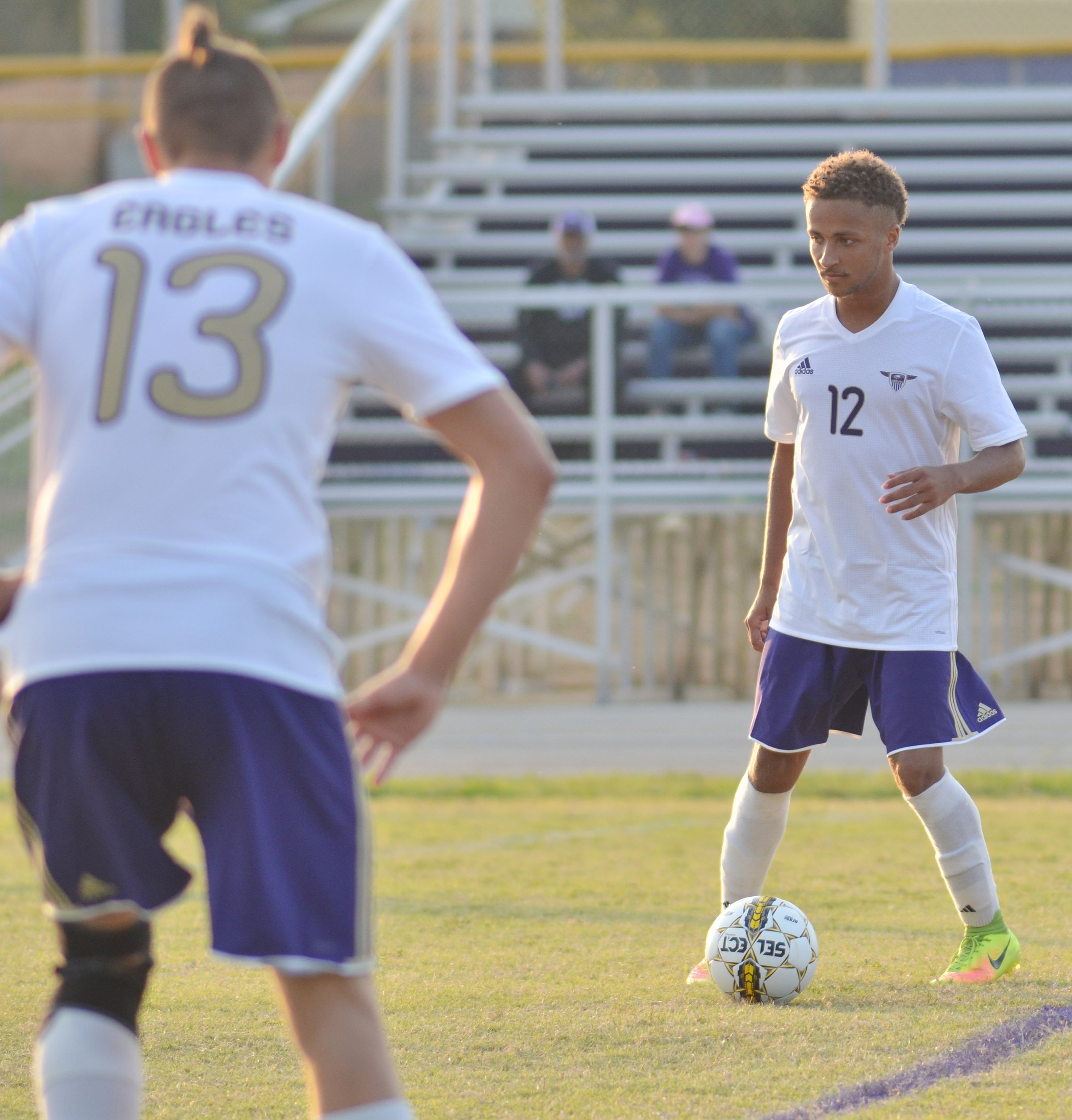 CHS senior Ethan Lay gets set to kick the ball.