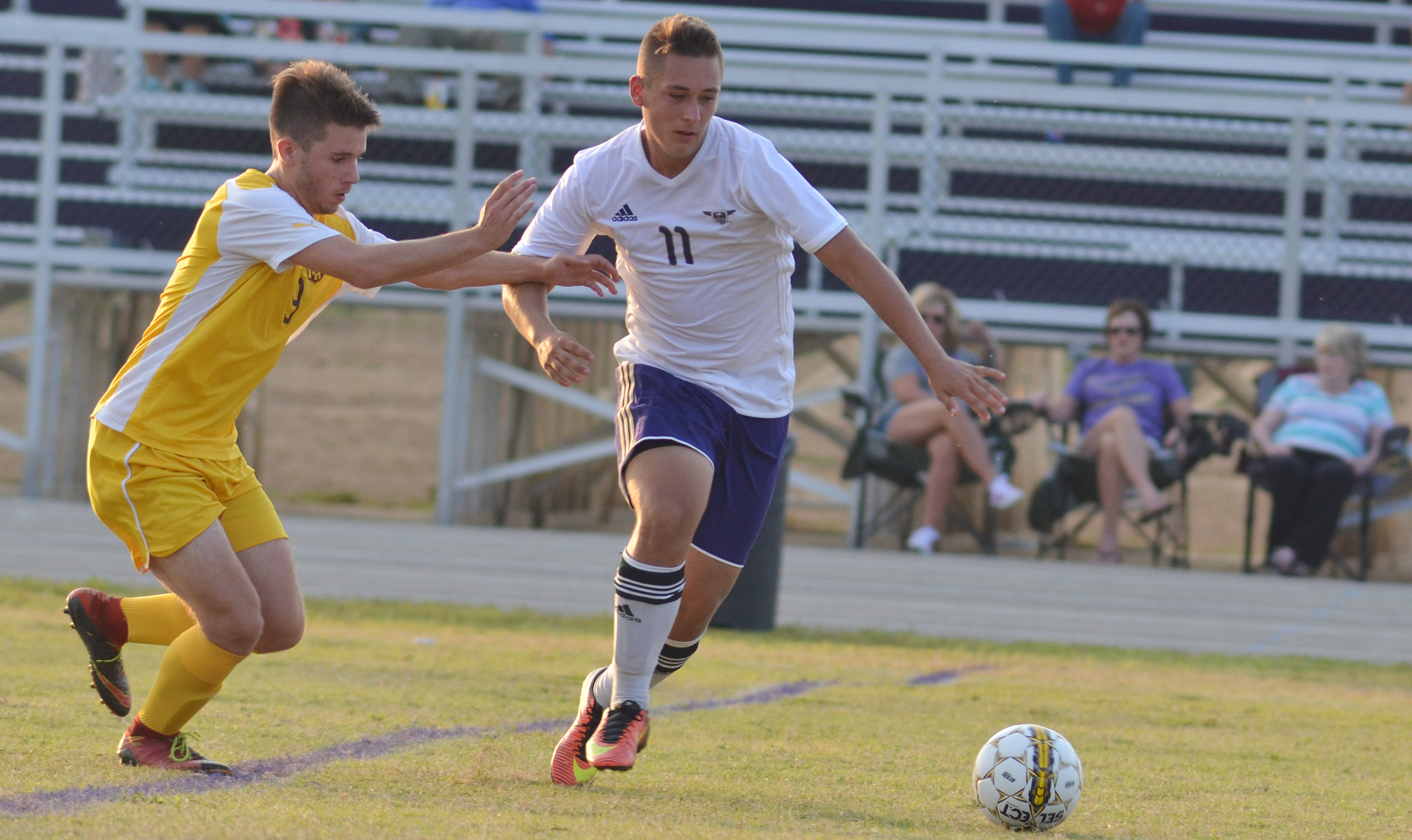 CHS senior Cody Davis protects the ball.