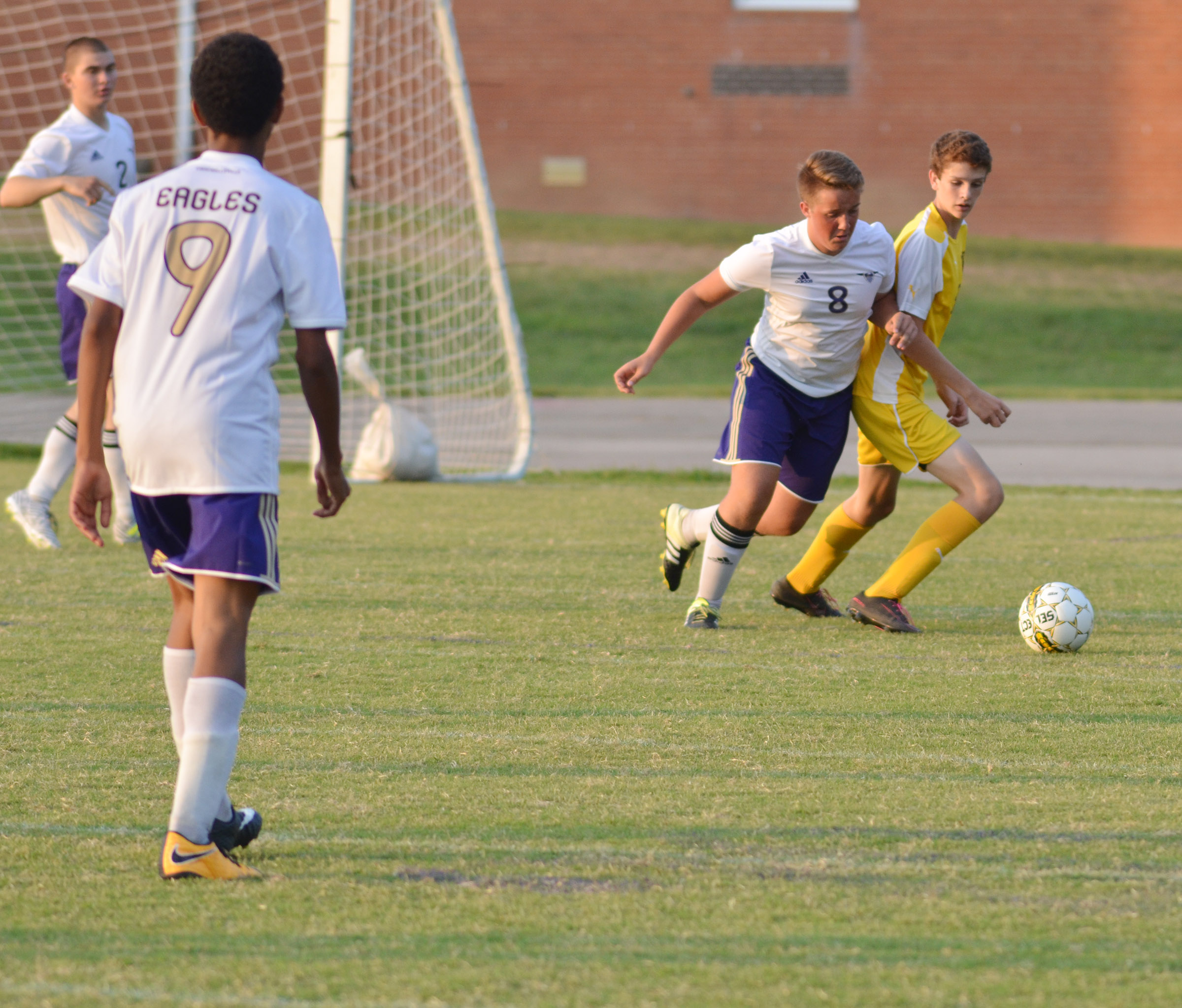 CHS senior Justin Richerson plays defense.