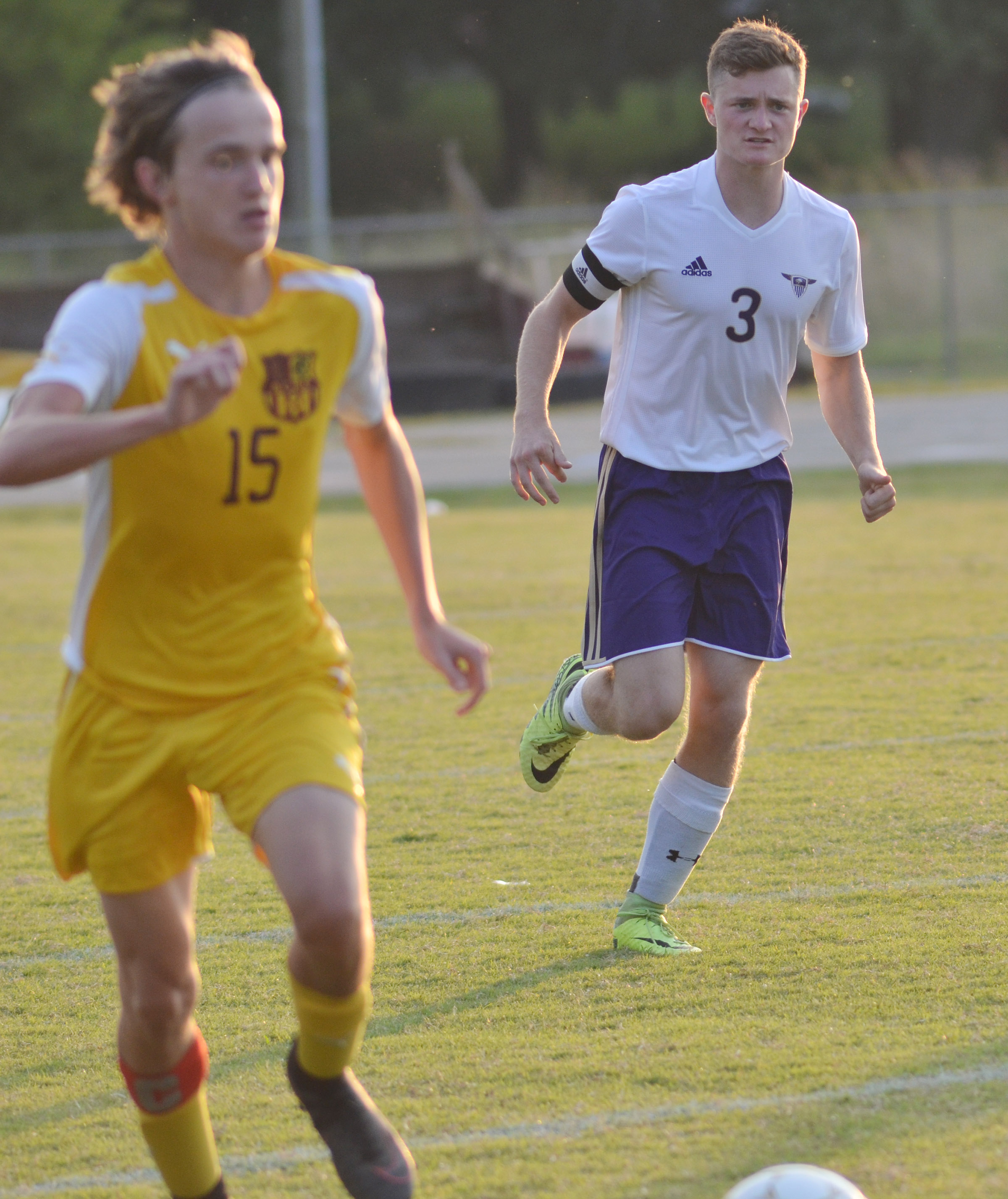 CHS senior Bryce Richardson runs to the ball.