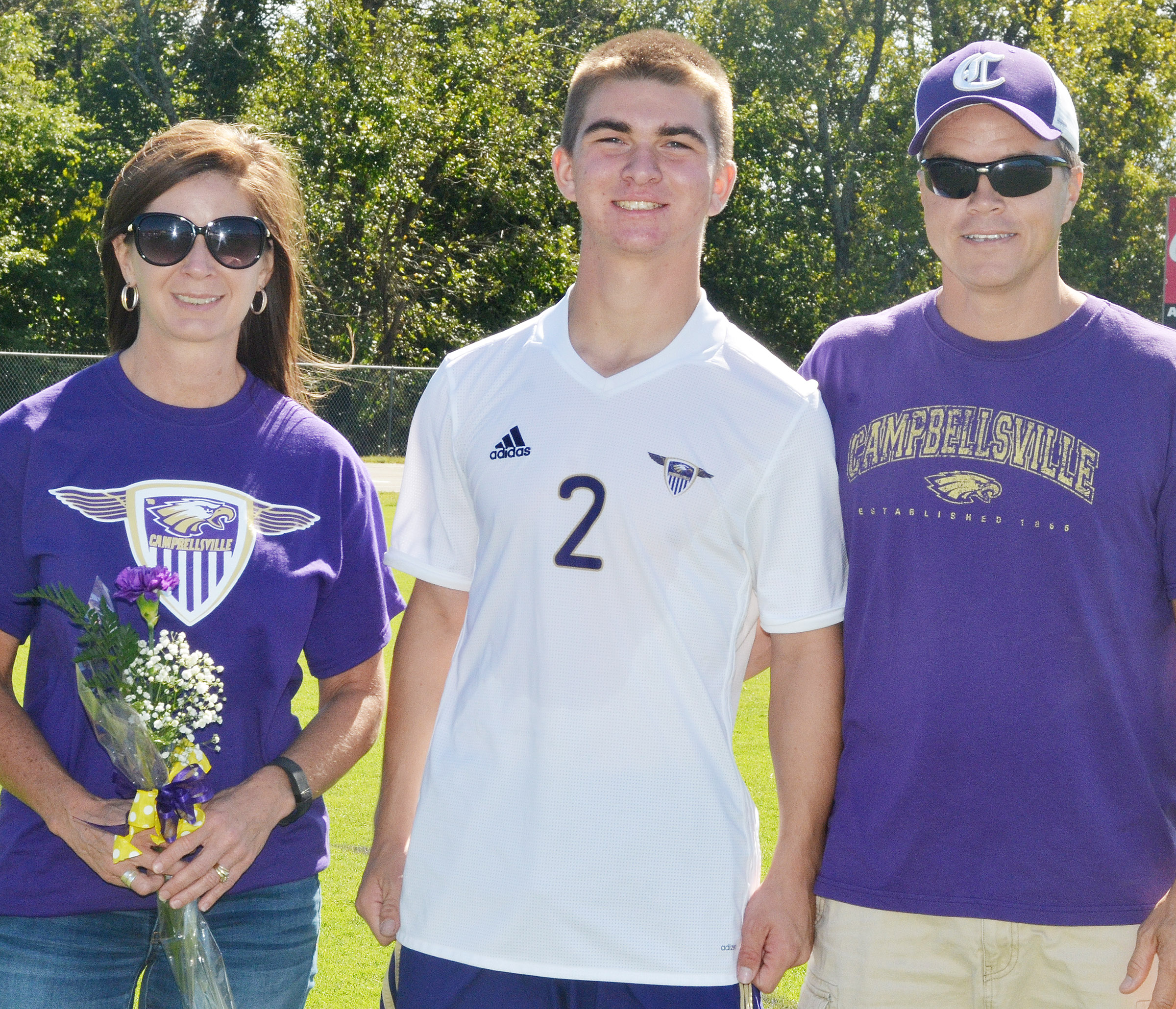 CHS senior soccer player Cass Kidwell is honored.