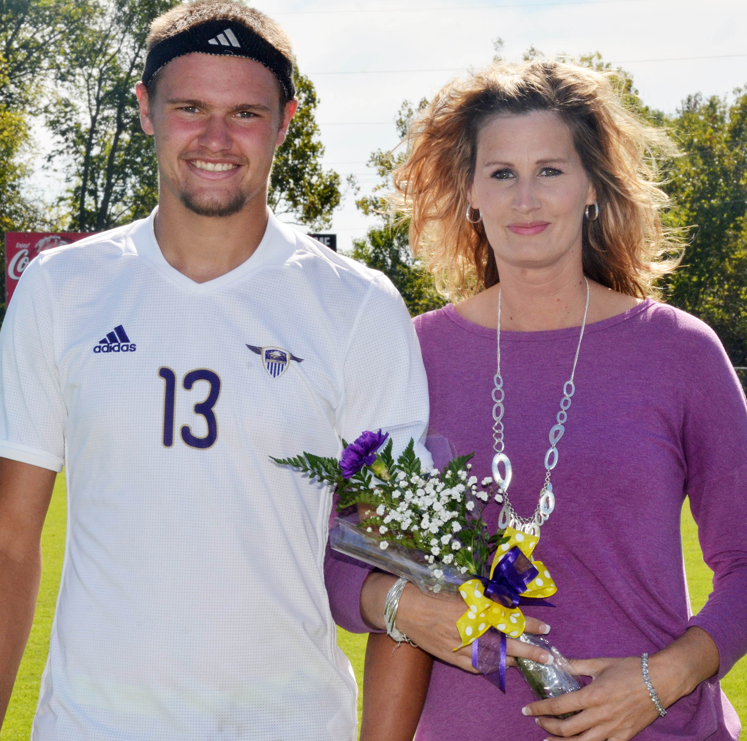CHS senior soccer player Logan Cole is honored.