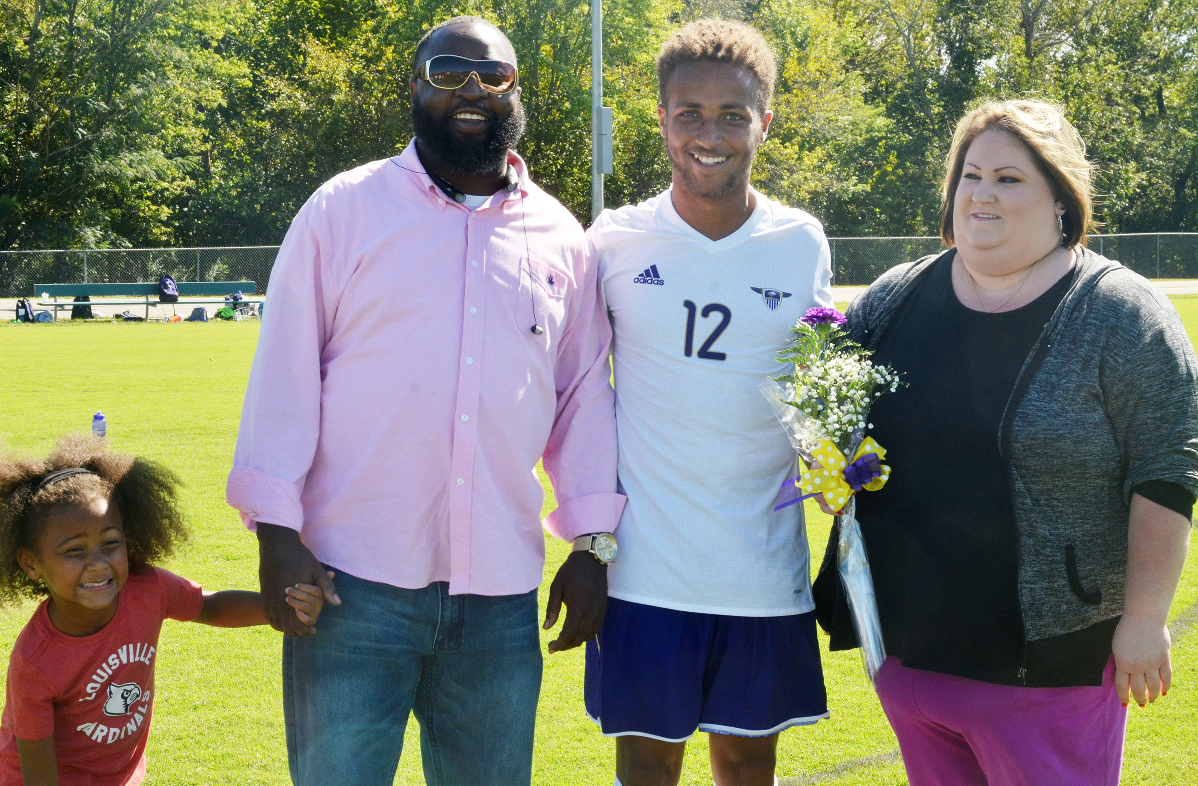 CHS senior soccer player Ethan Lay is honored.