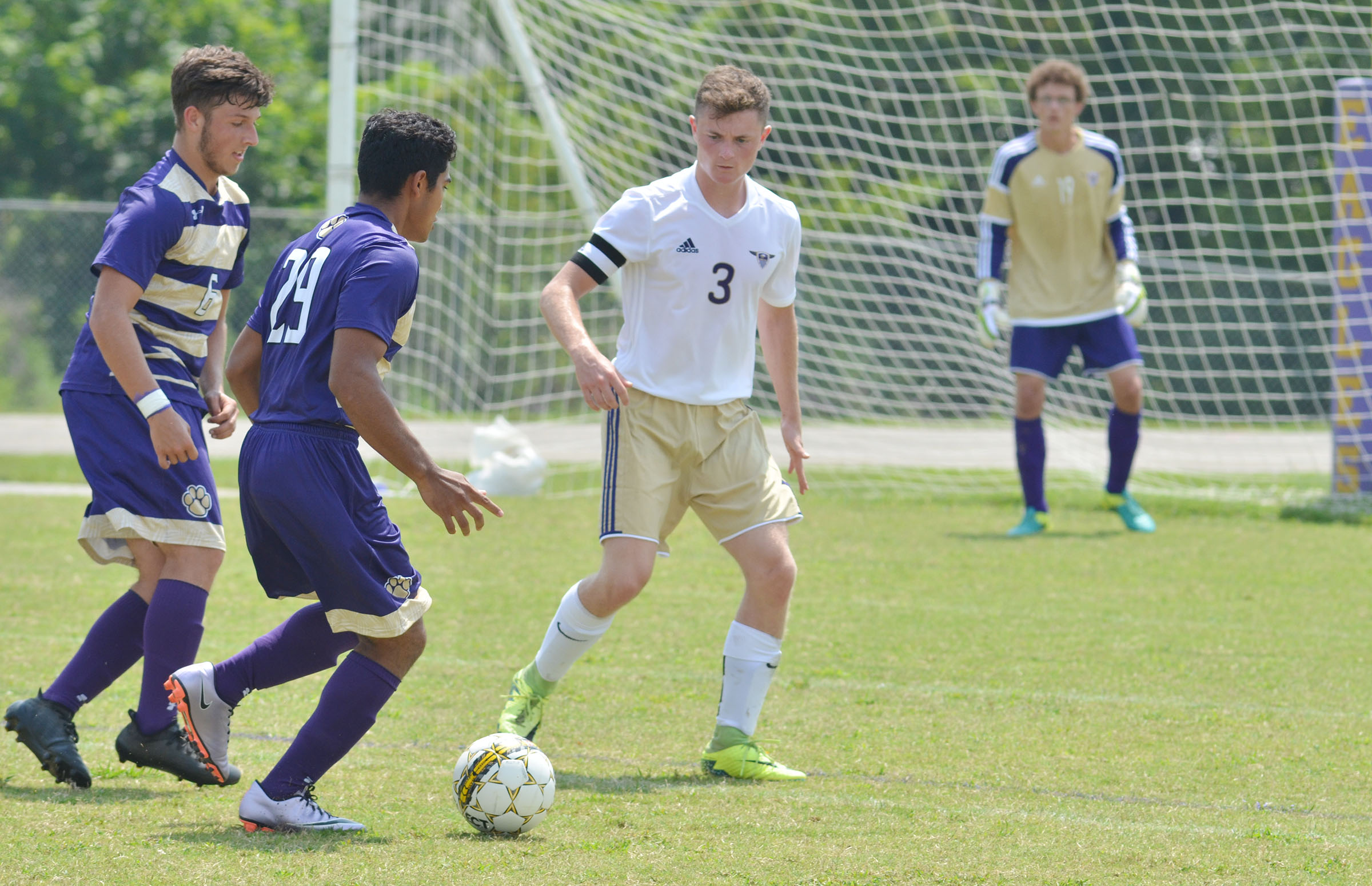 CHS senior Bryce Richardson plays defense.