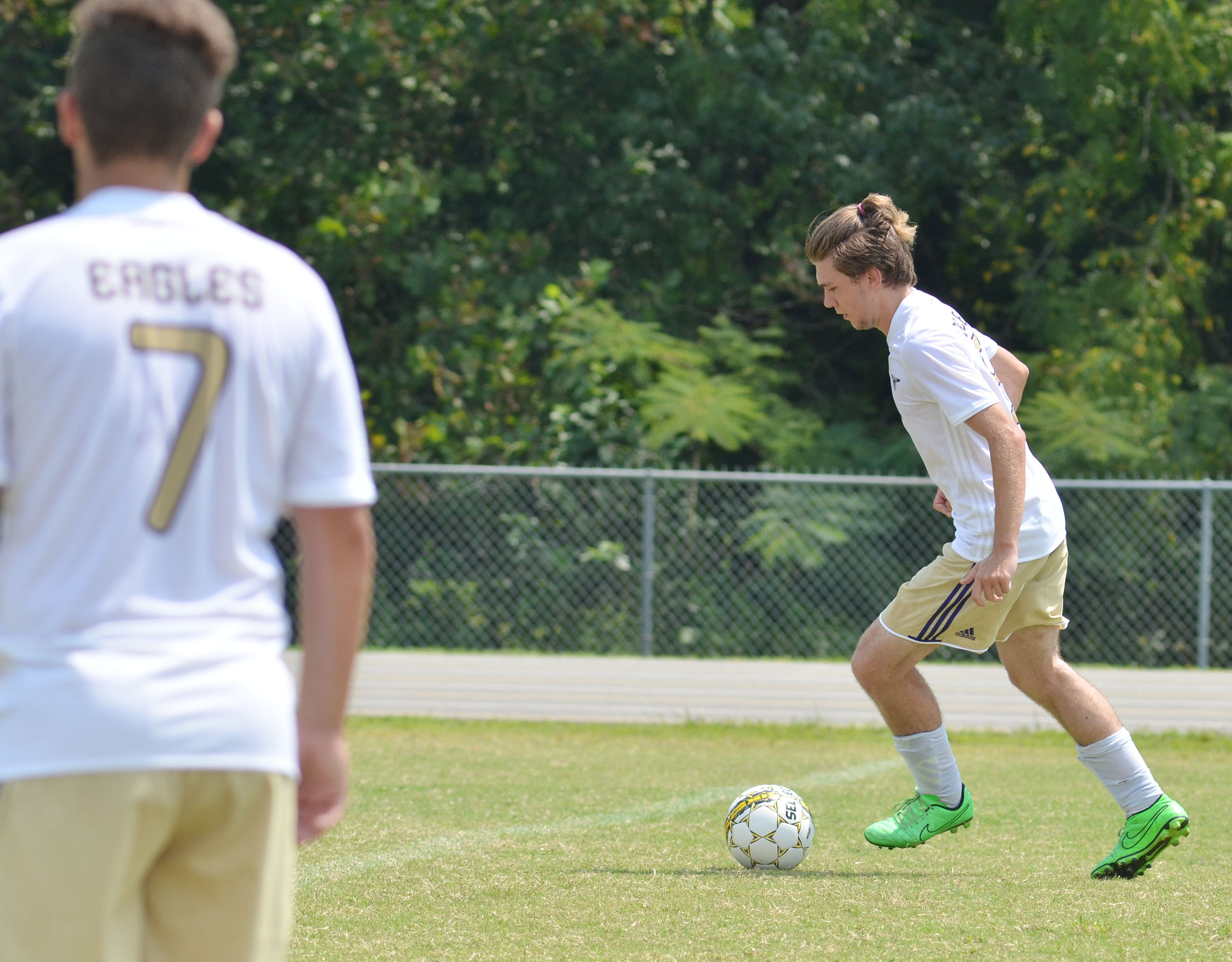 CHS senior Christian Berry kicks the ball.