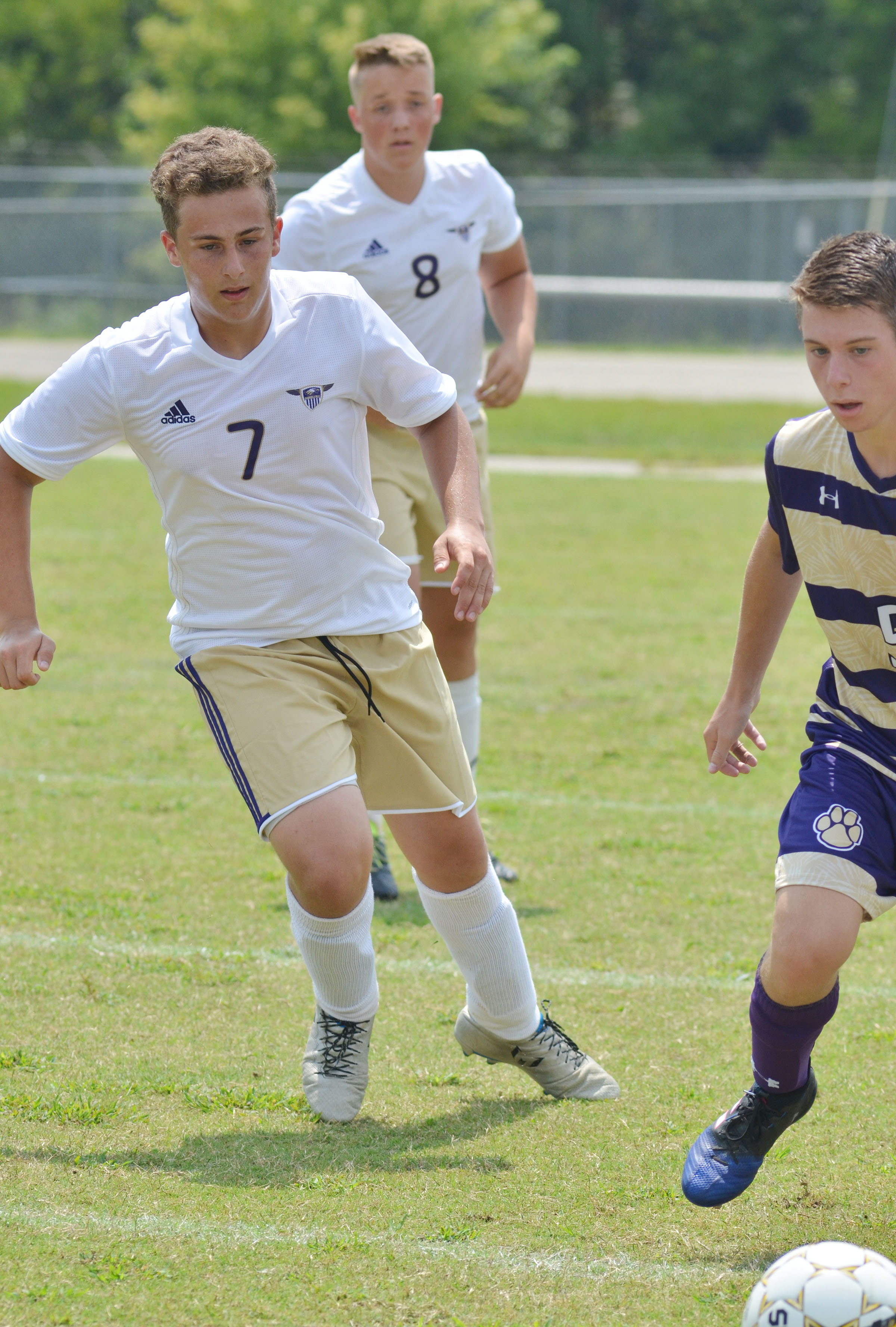 CHS junior Brody Weeks plays defense.
