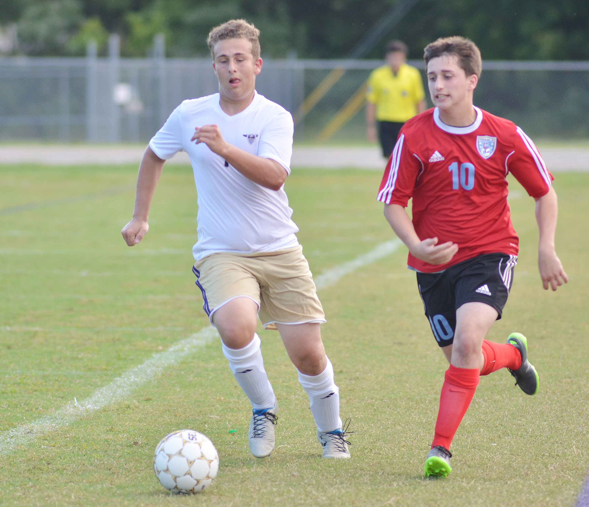 CHS junior Brody Weeks runs to the goal.