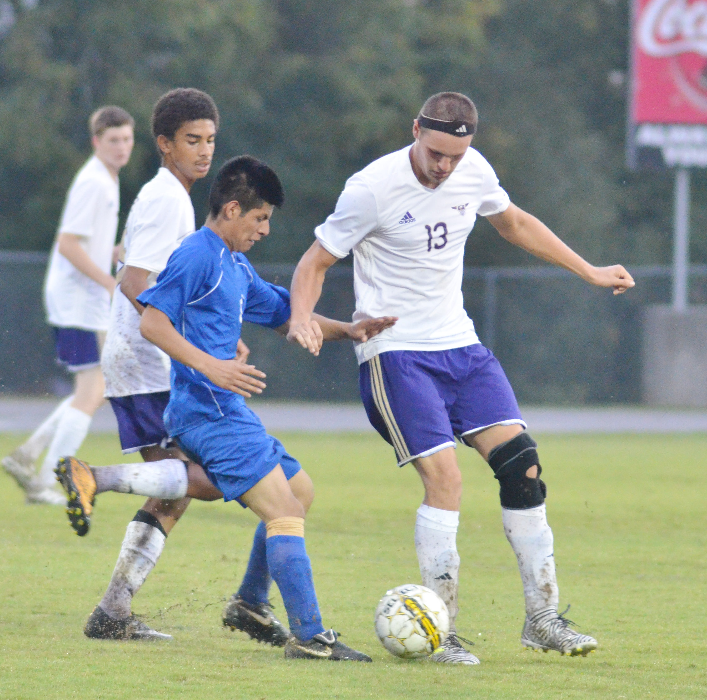 CHS senior Logan Cole protects the ball.