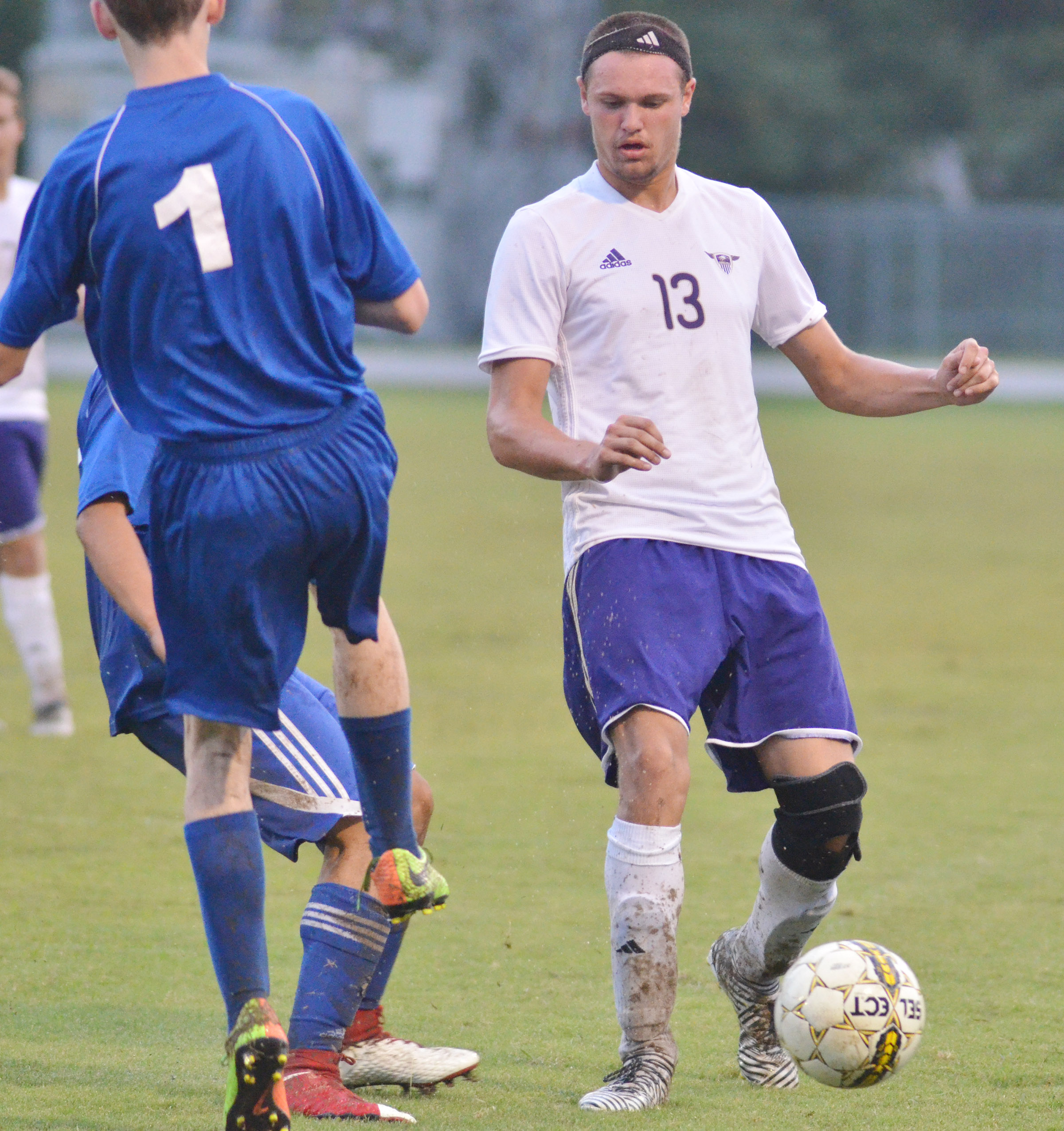 CHS senior Logan Cole plays defense.