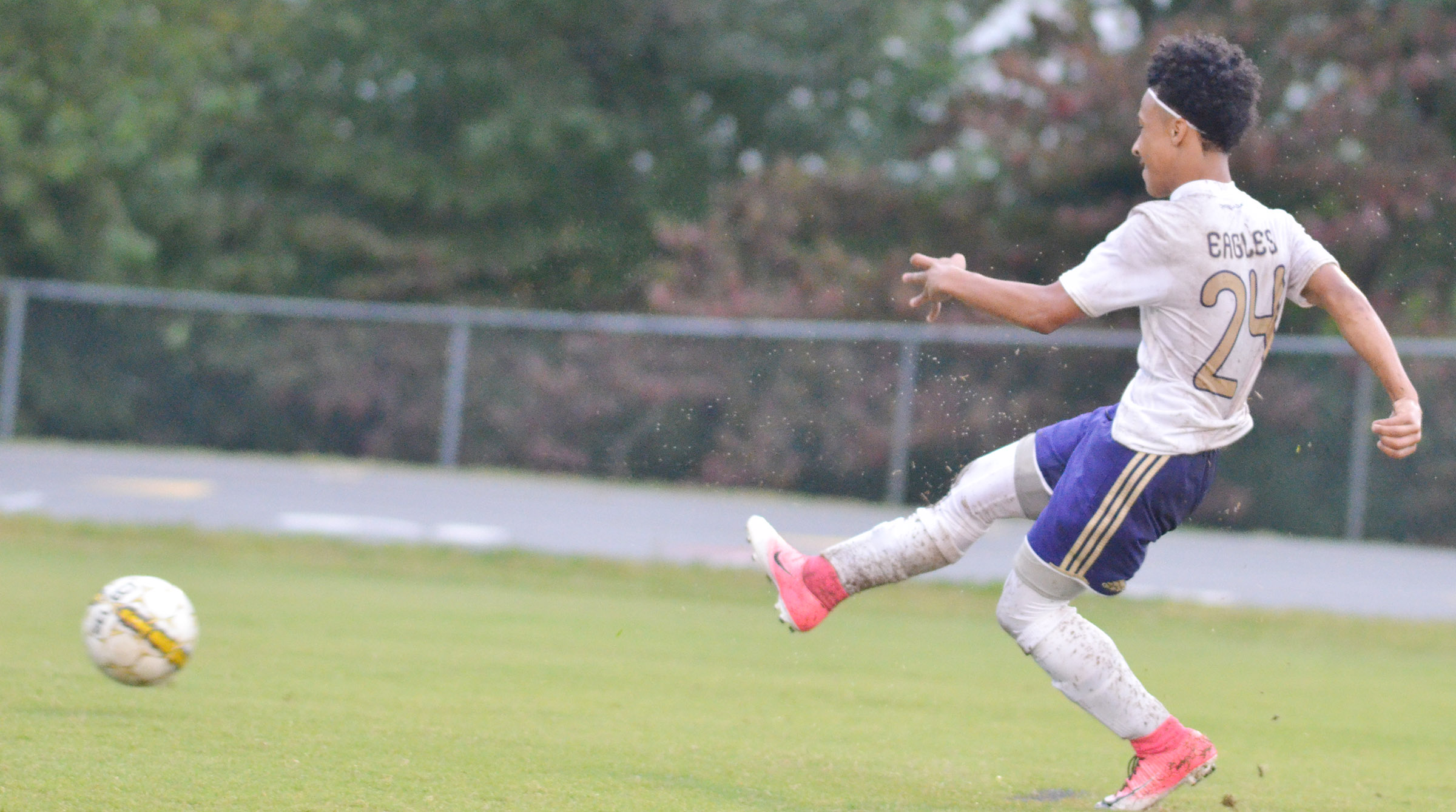 CHS junior Daniel Johnson scores a goal.