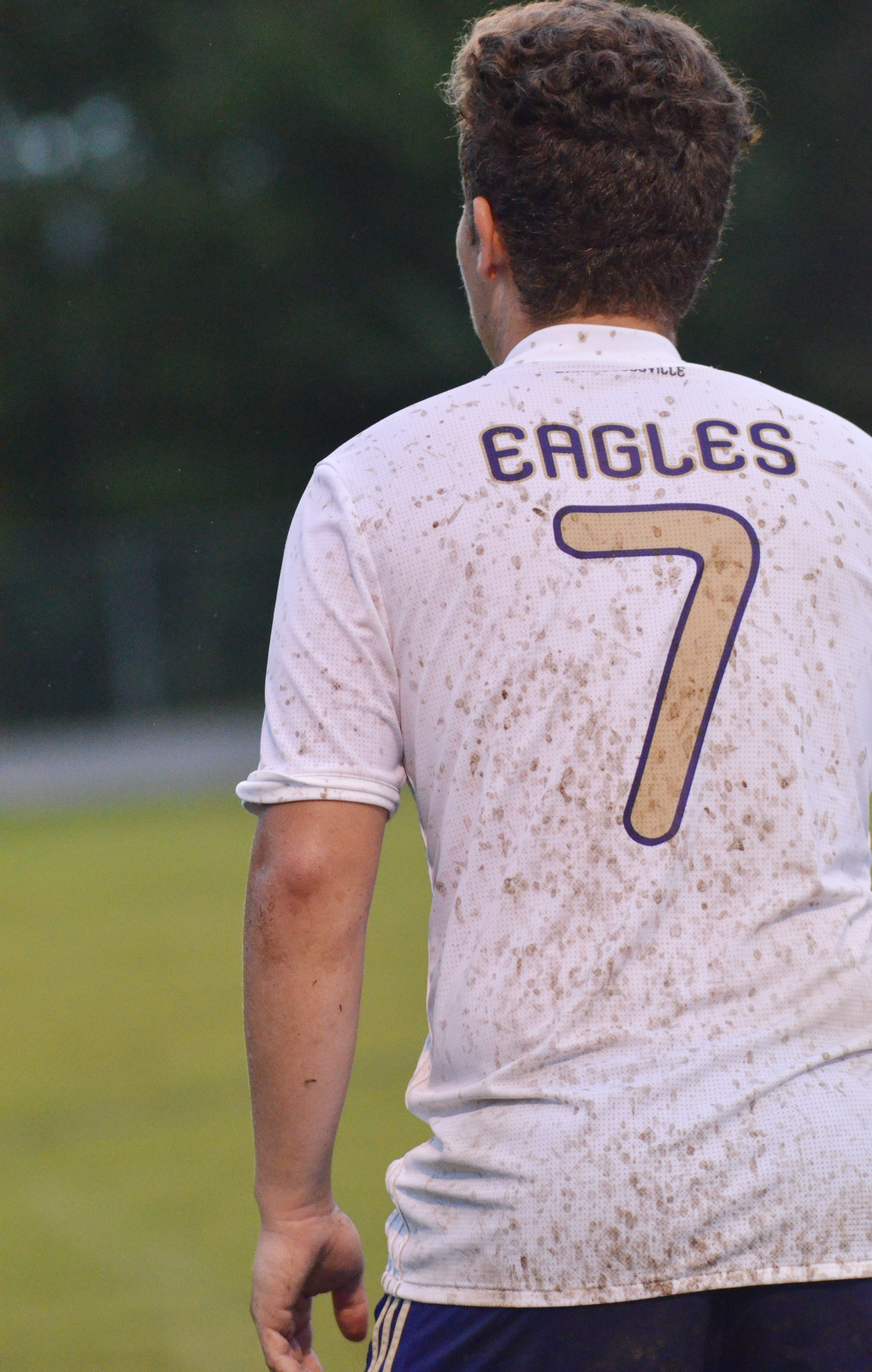CHS junior Brody Weeks's uniform gets muddy.