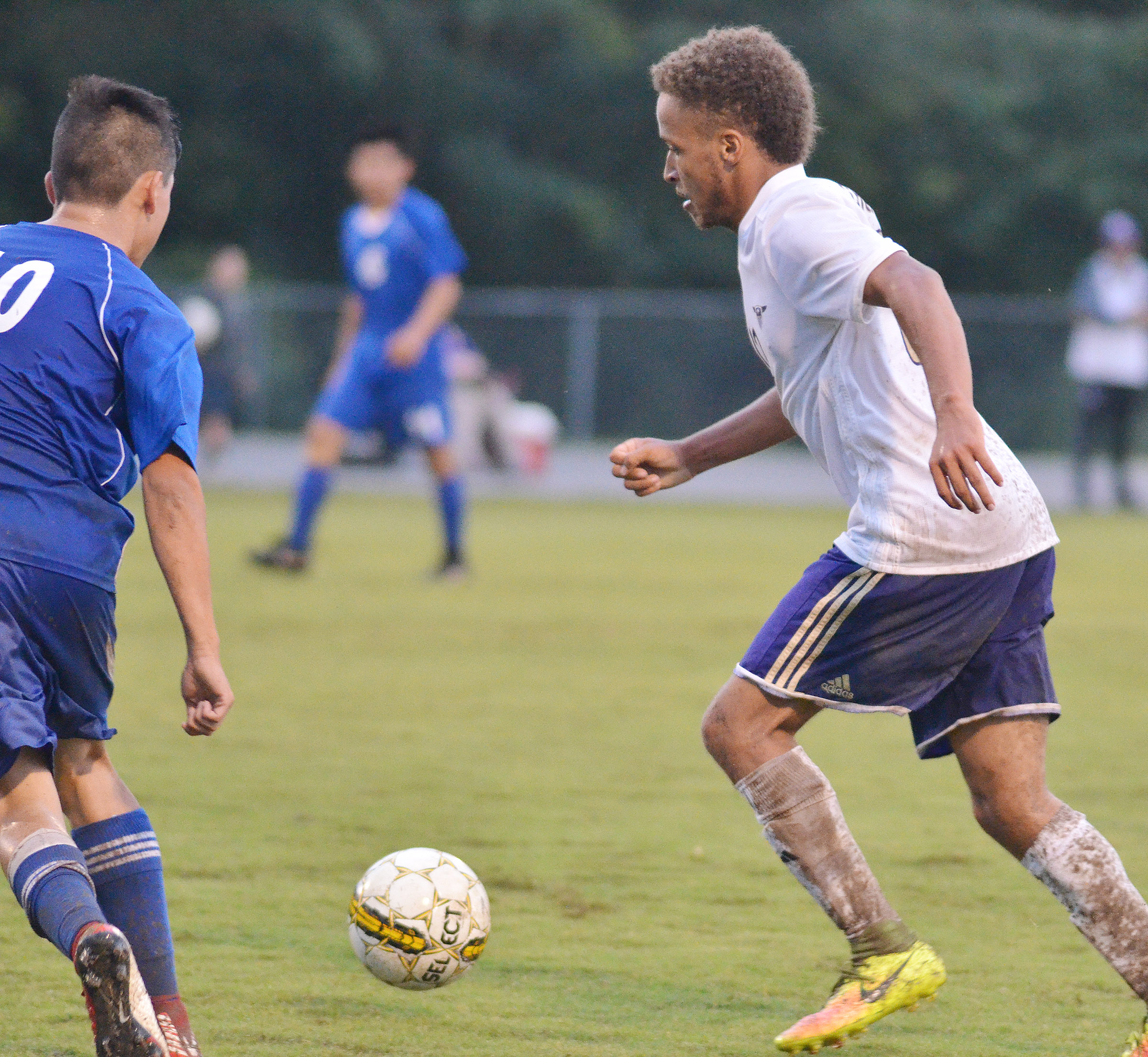 CHS senior Ethan Lay kicks the ball.