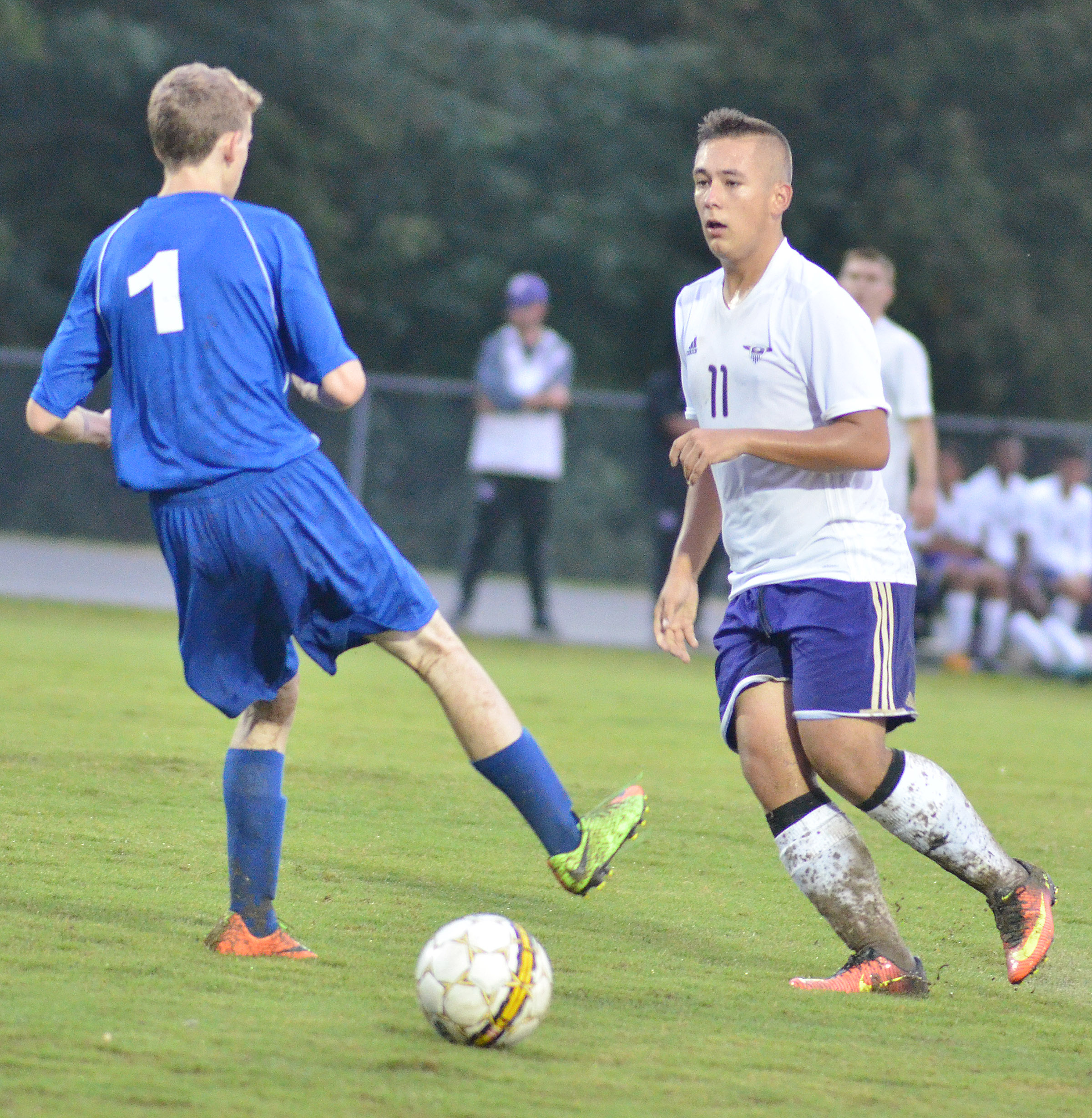 CHS senior Cody Davis plays defense.