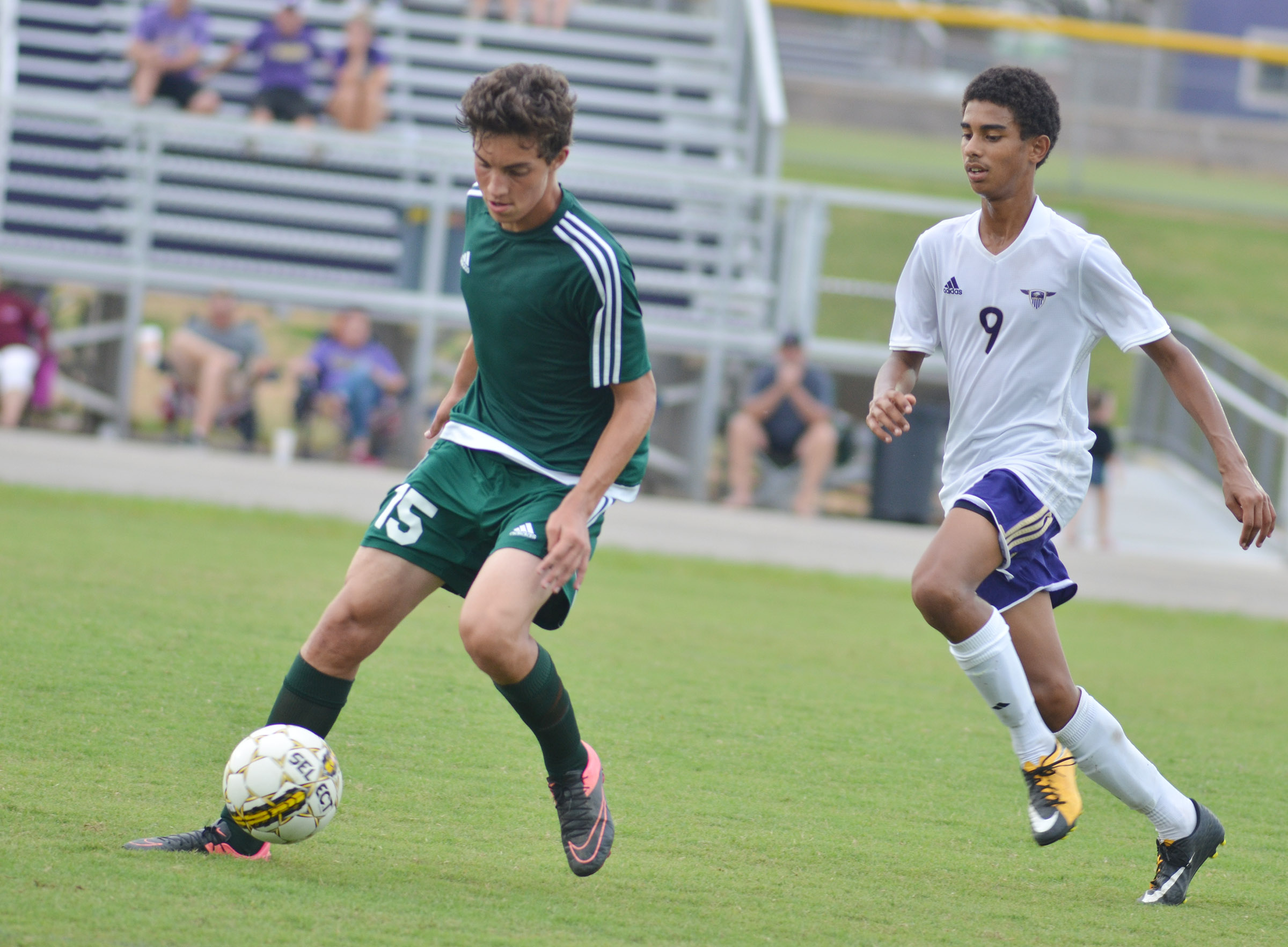 CHS sophomore David Silva plays defense.