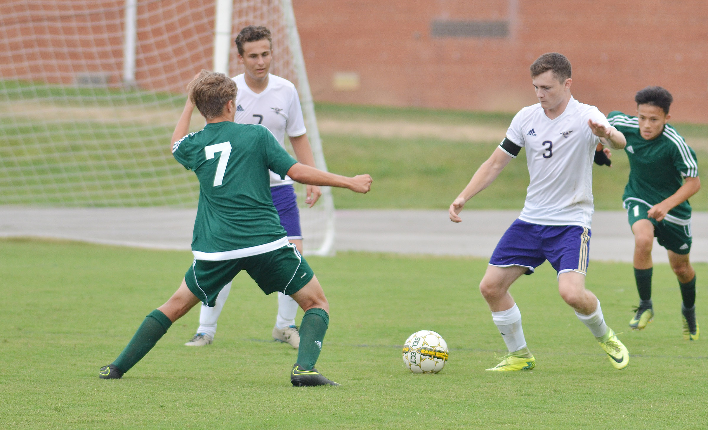 CHS junior Brody Weeks, at left, and senior Bryce Richardson play defense.