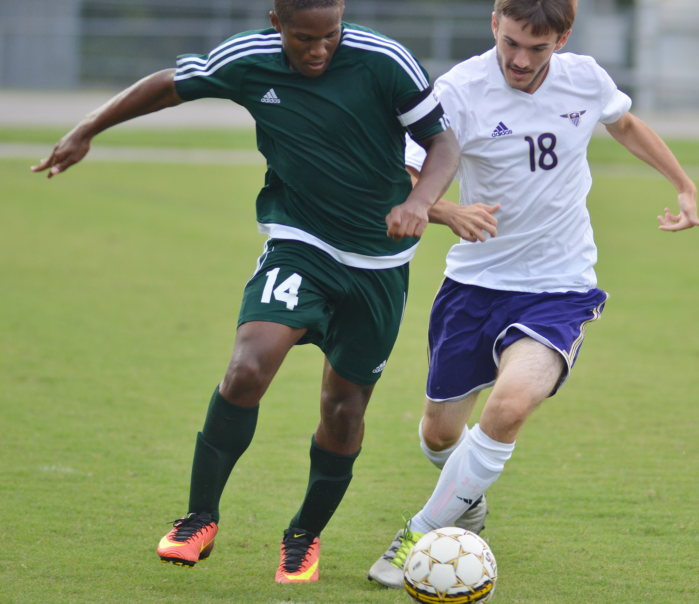 CHS senior Jackson Hunt kicks the ball.
