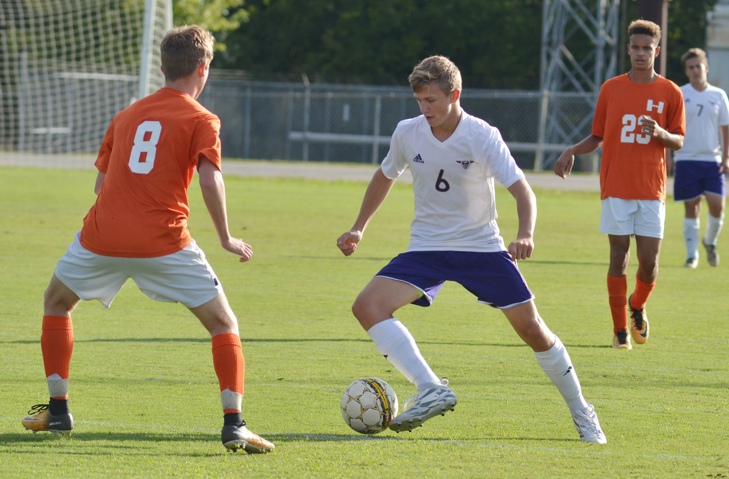 CHS freshman Blase Wheatley controls the ball.
