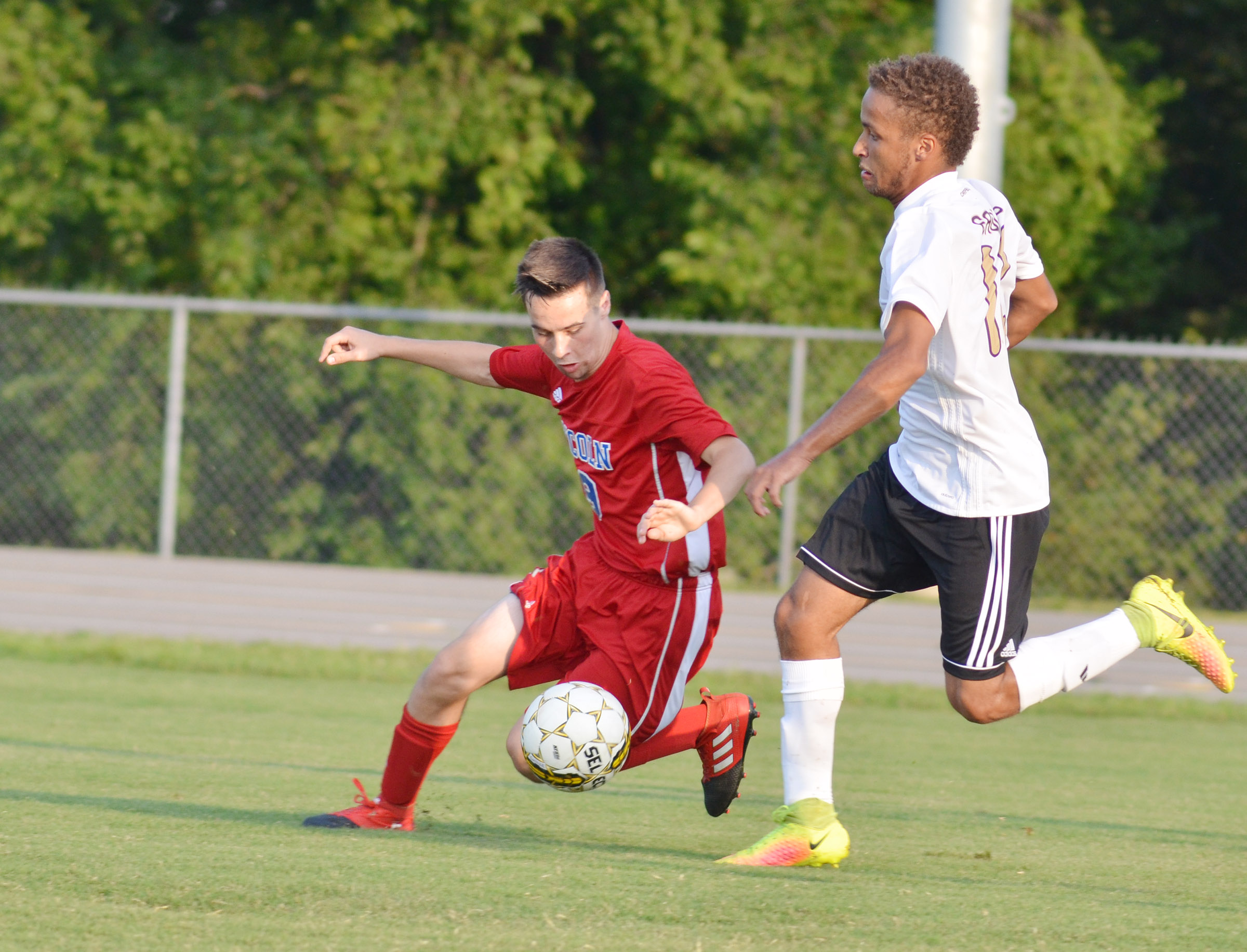 CHS senior Ethan Lay plays defense.