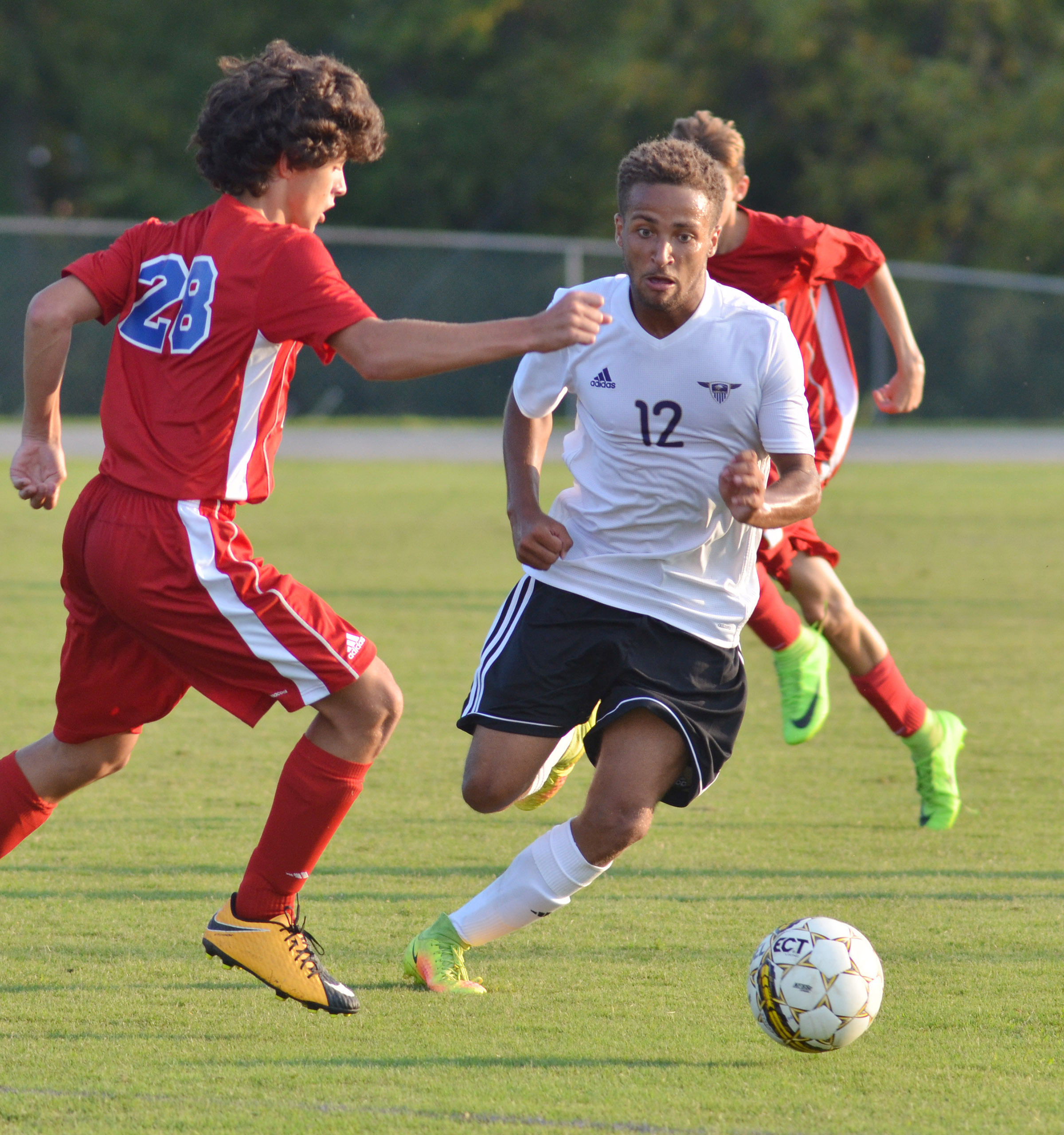 CHS senior Ethan Lay runs to the ball.