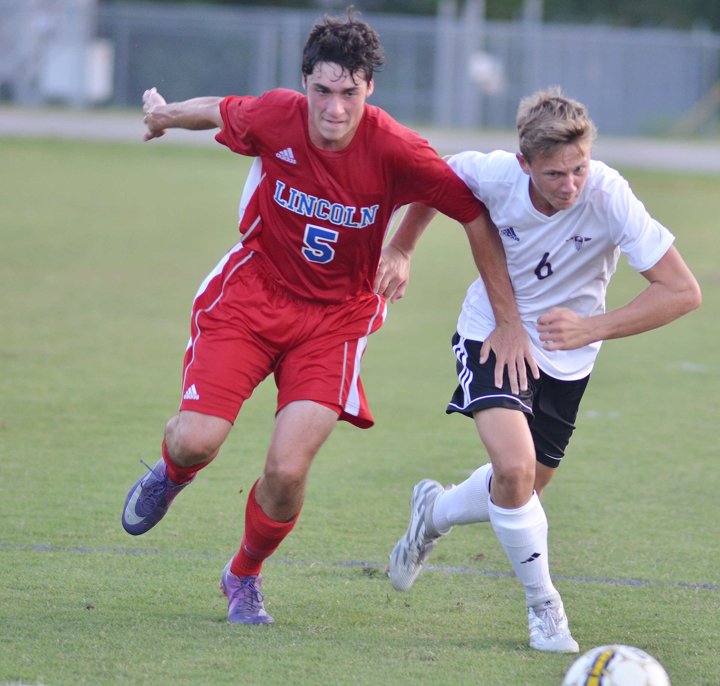 CHS freshman Blase Wheatley runs to the ball.