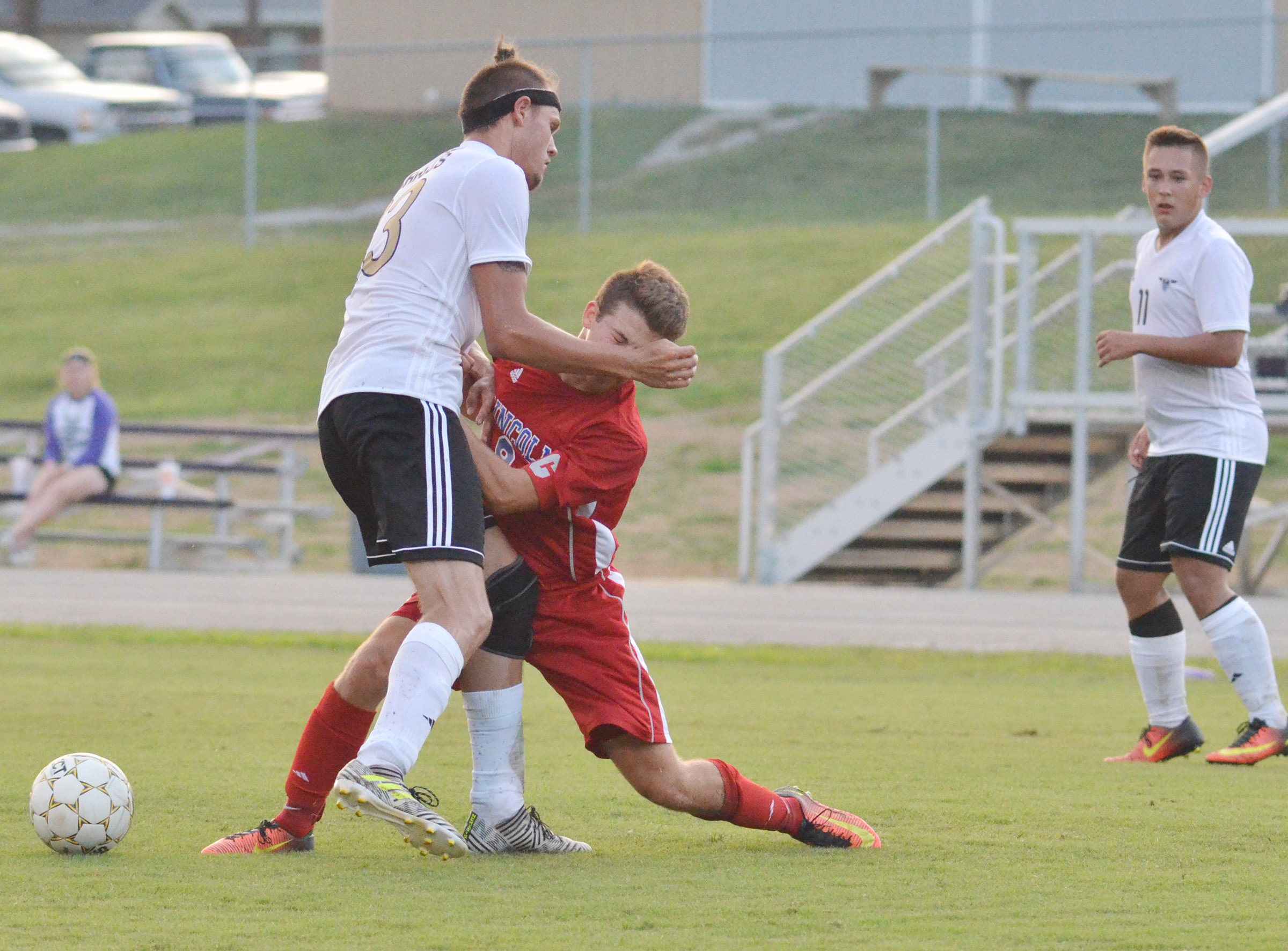 CHS senior Logan Cole battles for the ball.