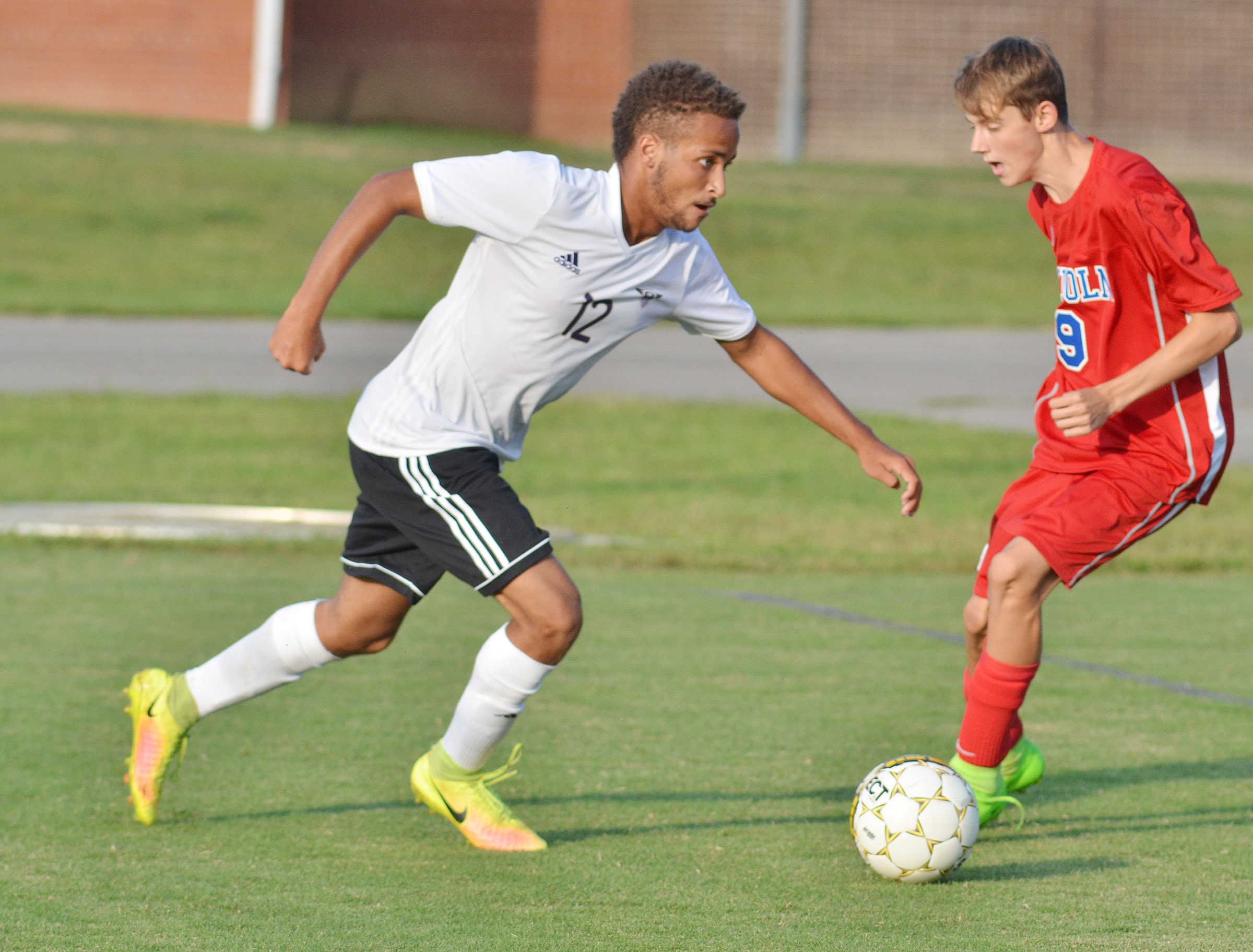 CHS senior Ethan Lay runs to the goal.