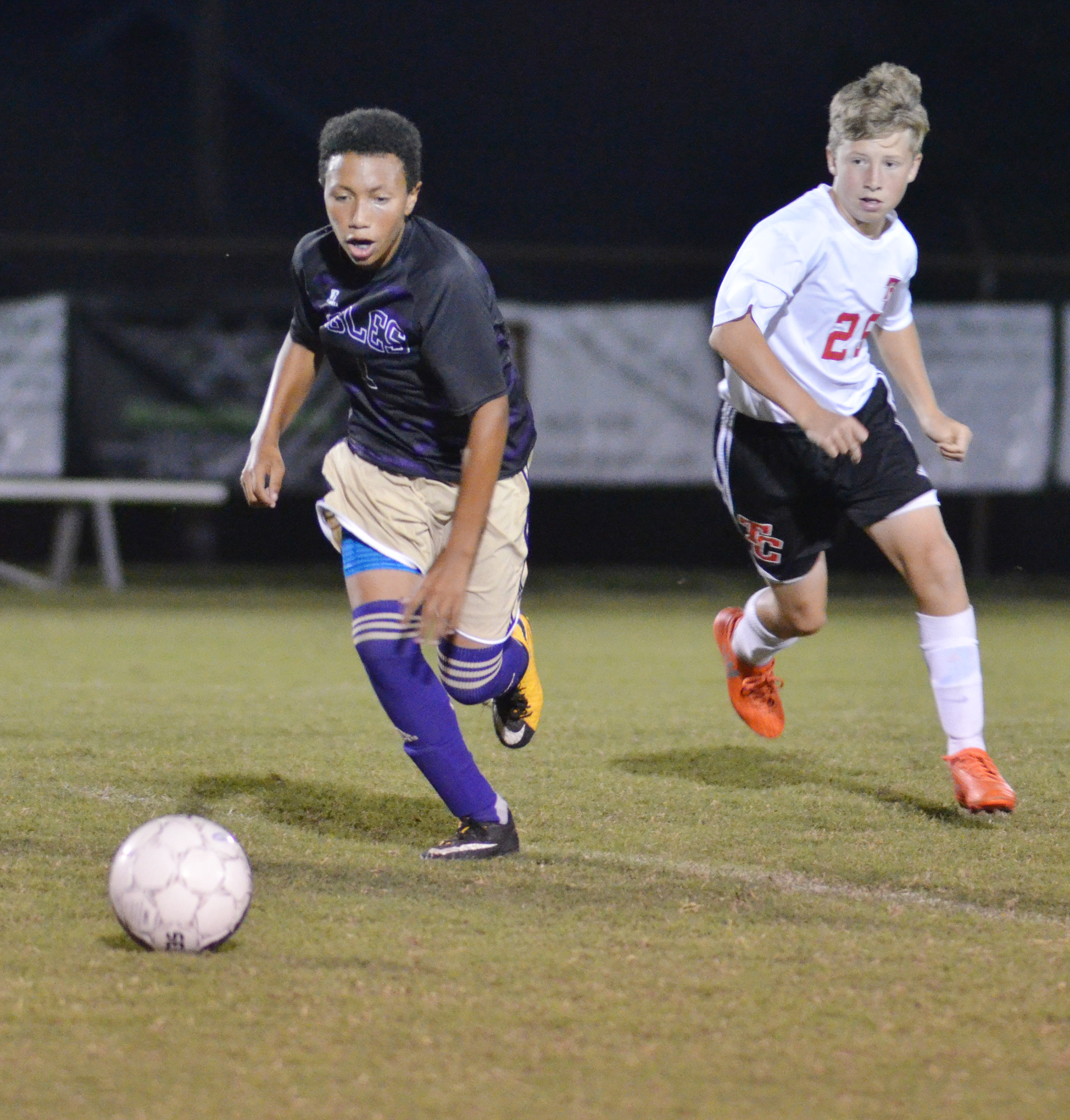 CHS freshman Jastyn Shively kicks the ball.