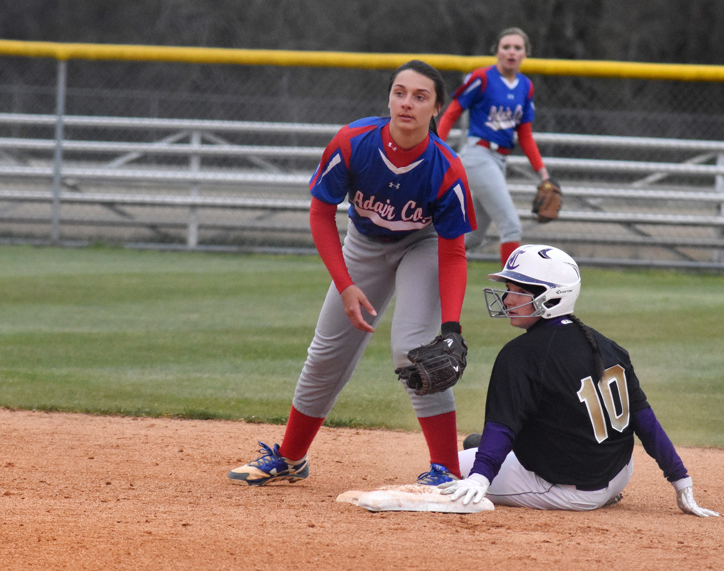 CHS sophomore Sydney Wilson is safe at second.