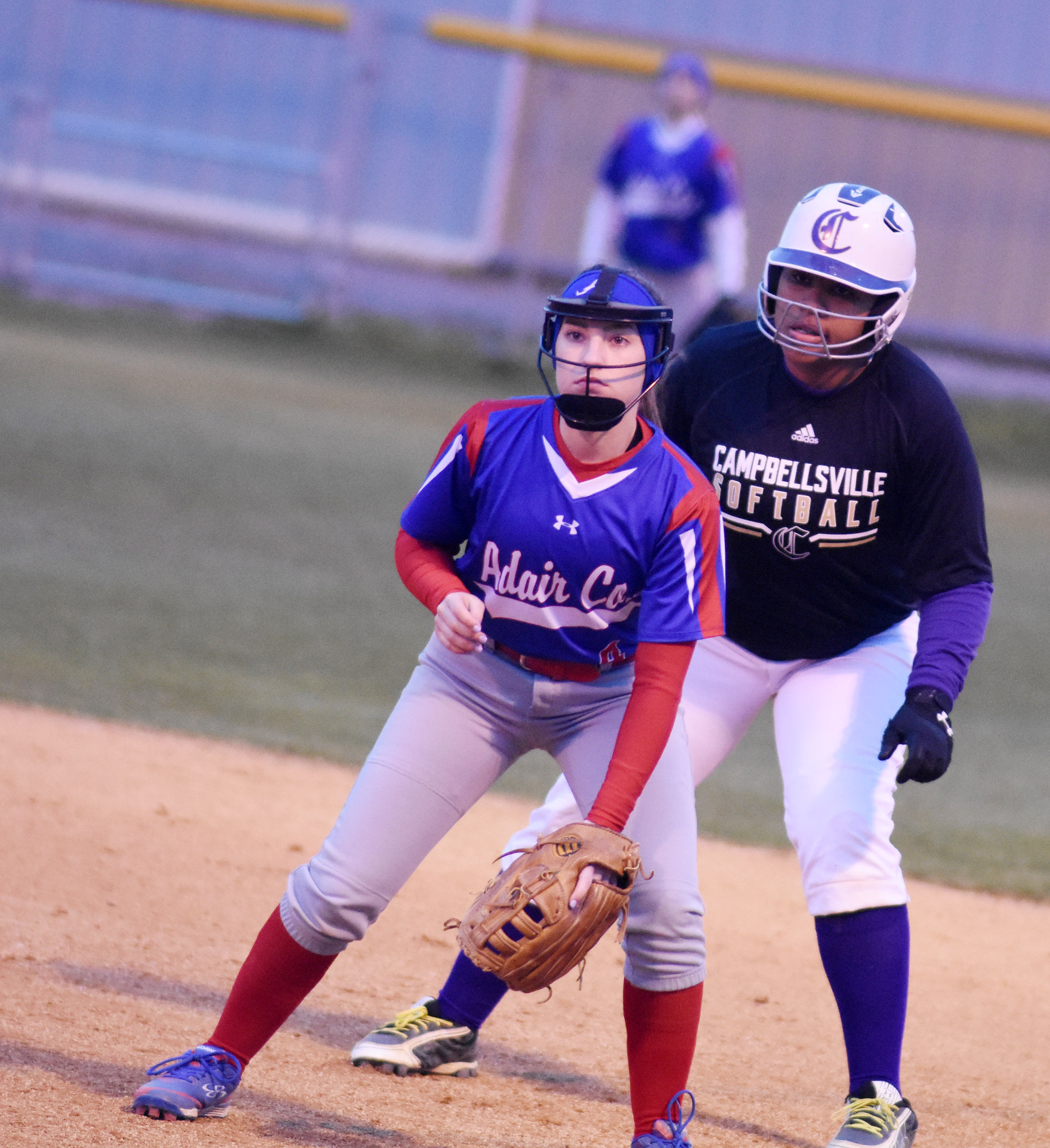 CHS senior Kayla Young looks to steal second.